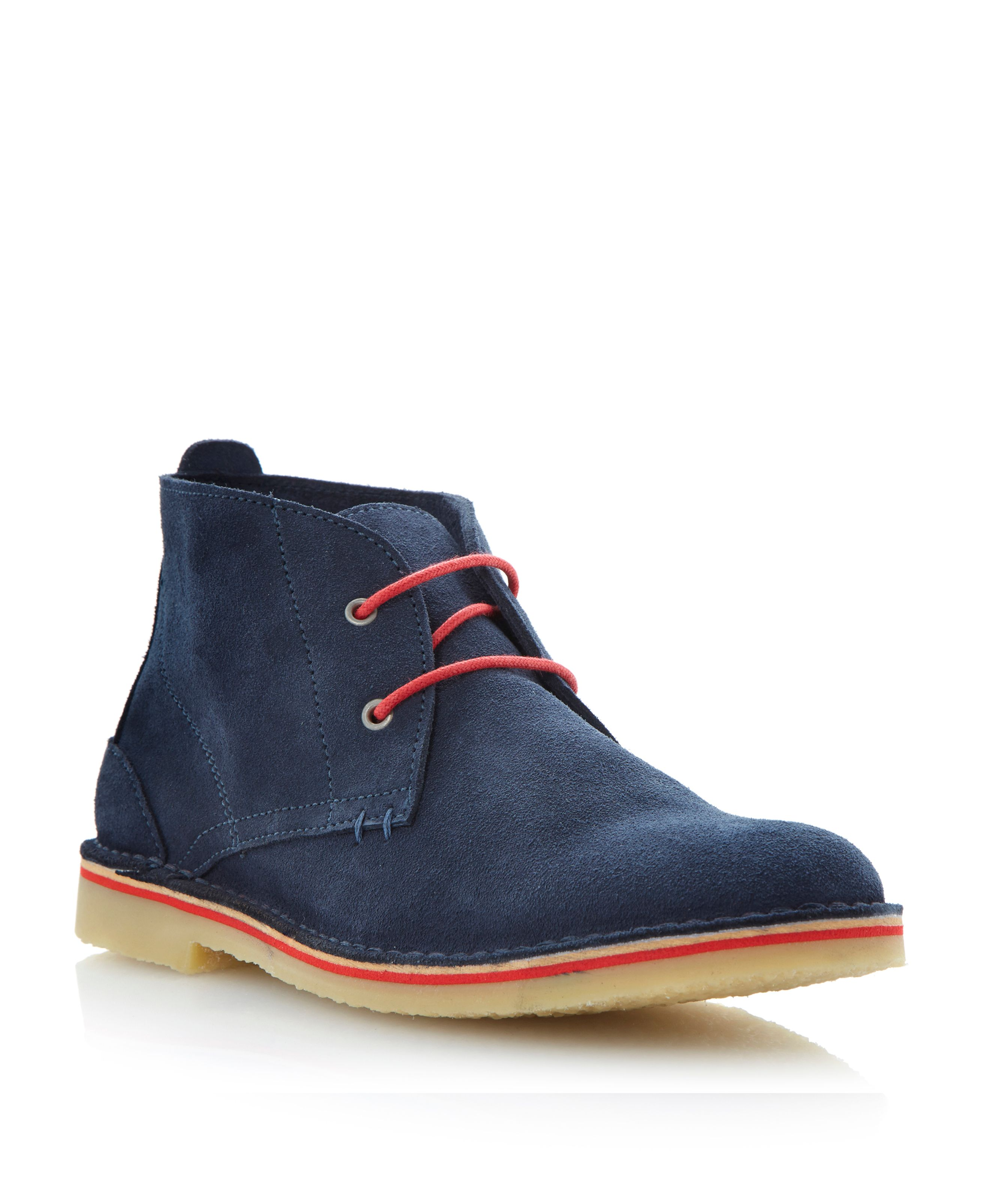 Cody lace up colour pop desert boots