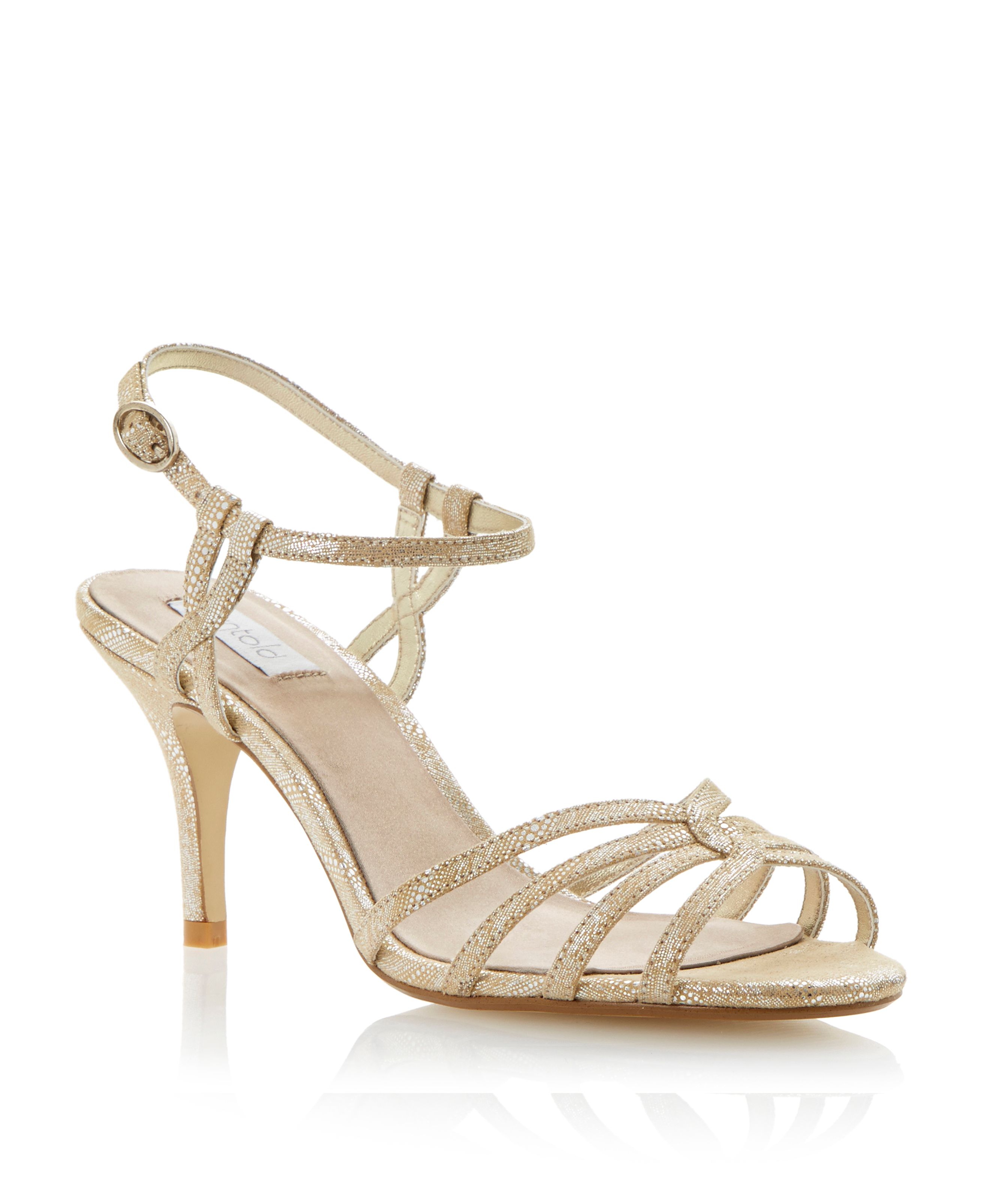 Heathers fabric strappy stiletto sandals