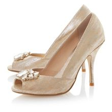 Darmera embellished peeptoe stiletto court shoes