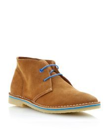 Clumsy lace up colour through sole desert boots