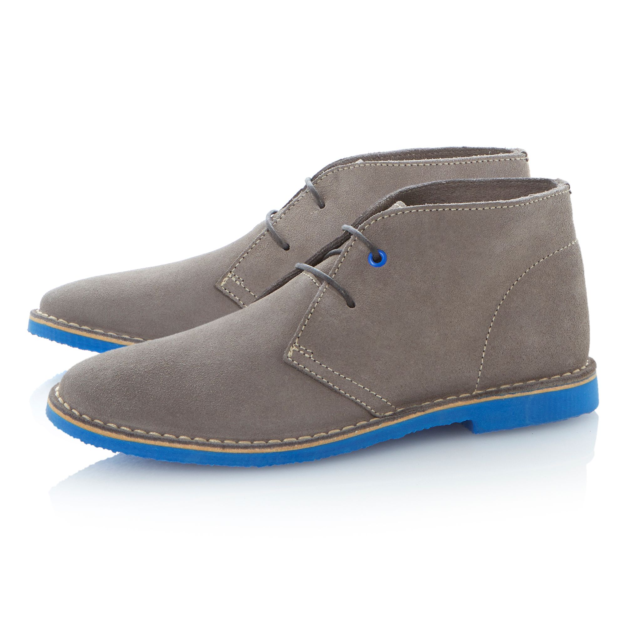 Clutz lace up coloured sole desert boots