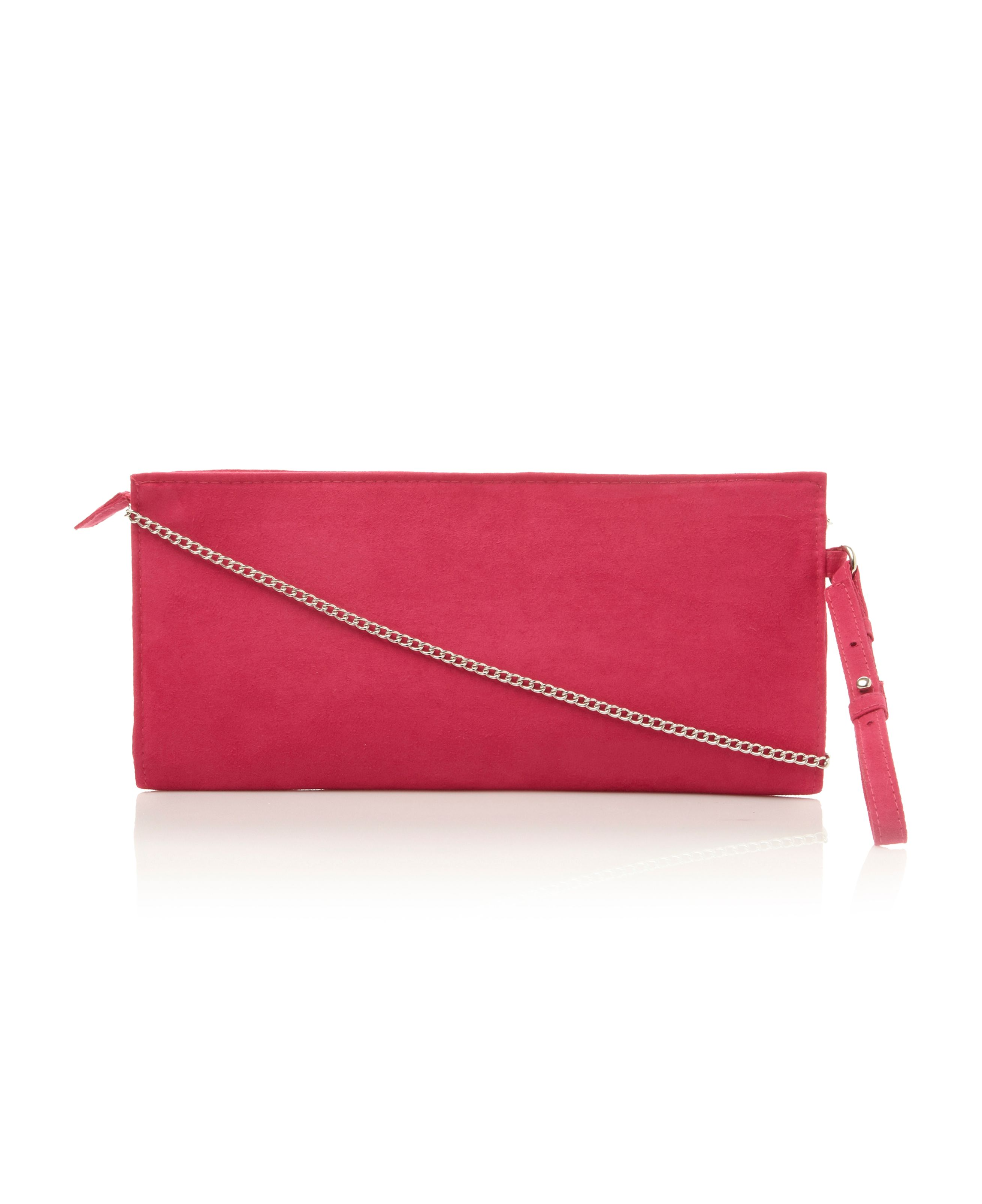 Bandle suedette clutch bag