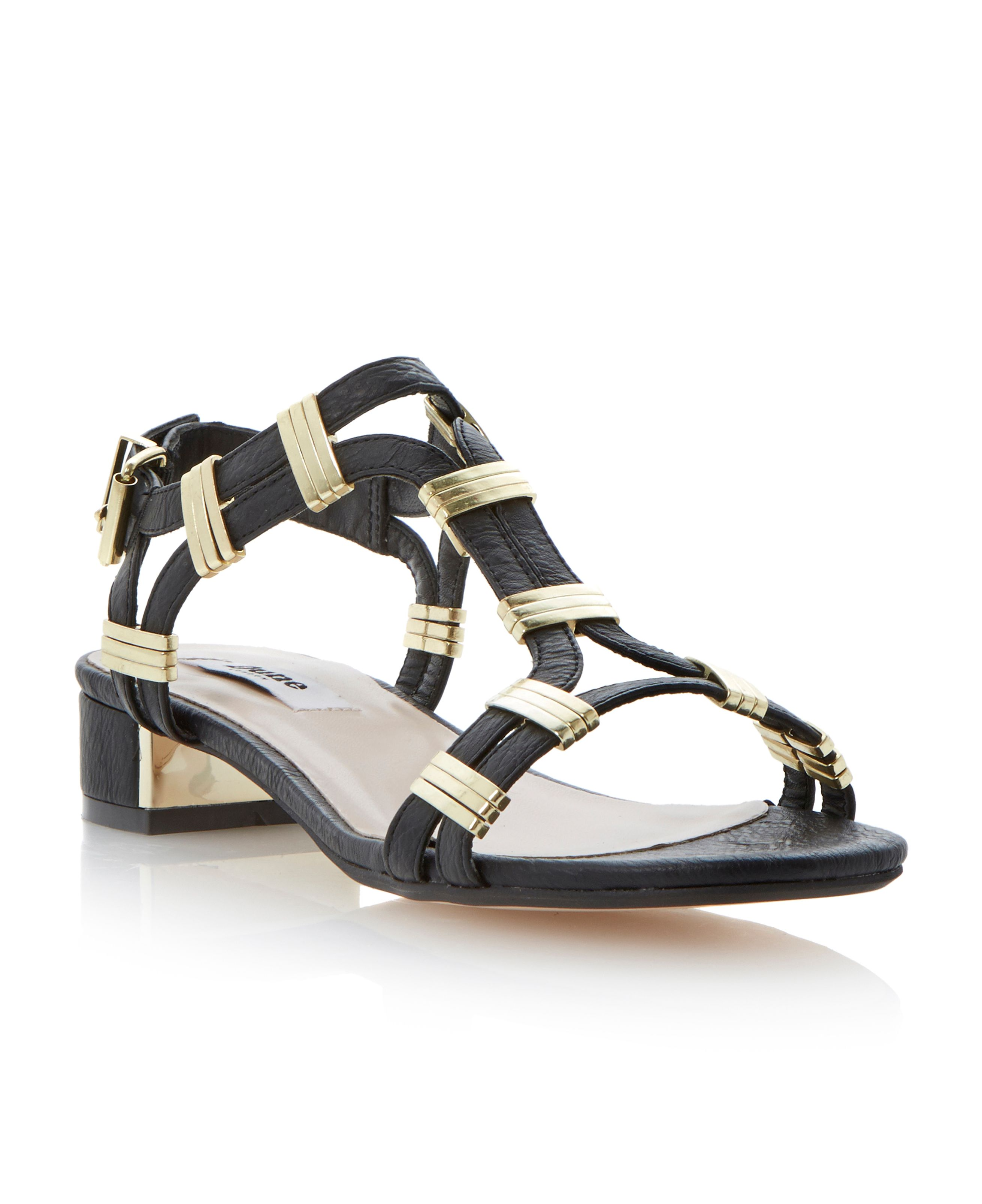 Faith buckle block heel sandals