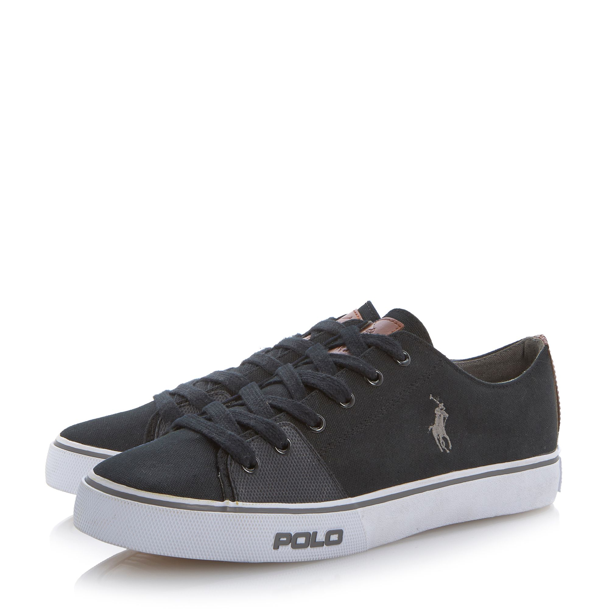 Cantor leather lace up trainers