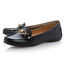 Lendever leather flat loafer shoes