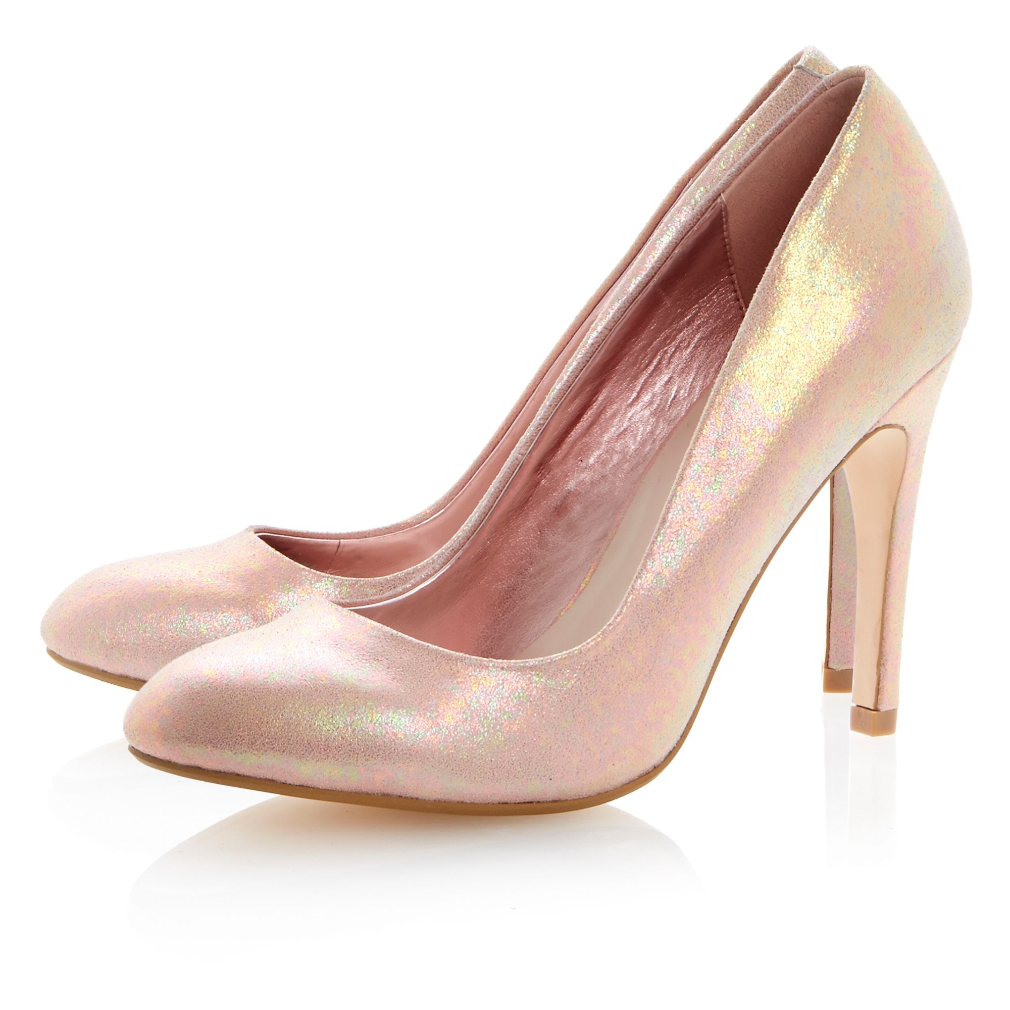 Burlesque almond toe stiletto court shoes