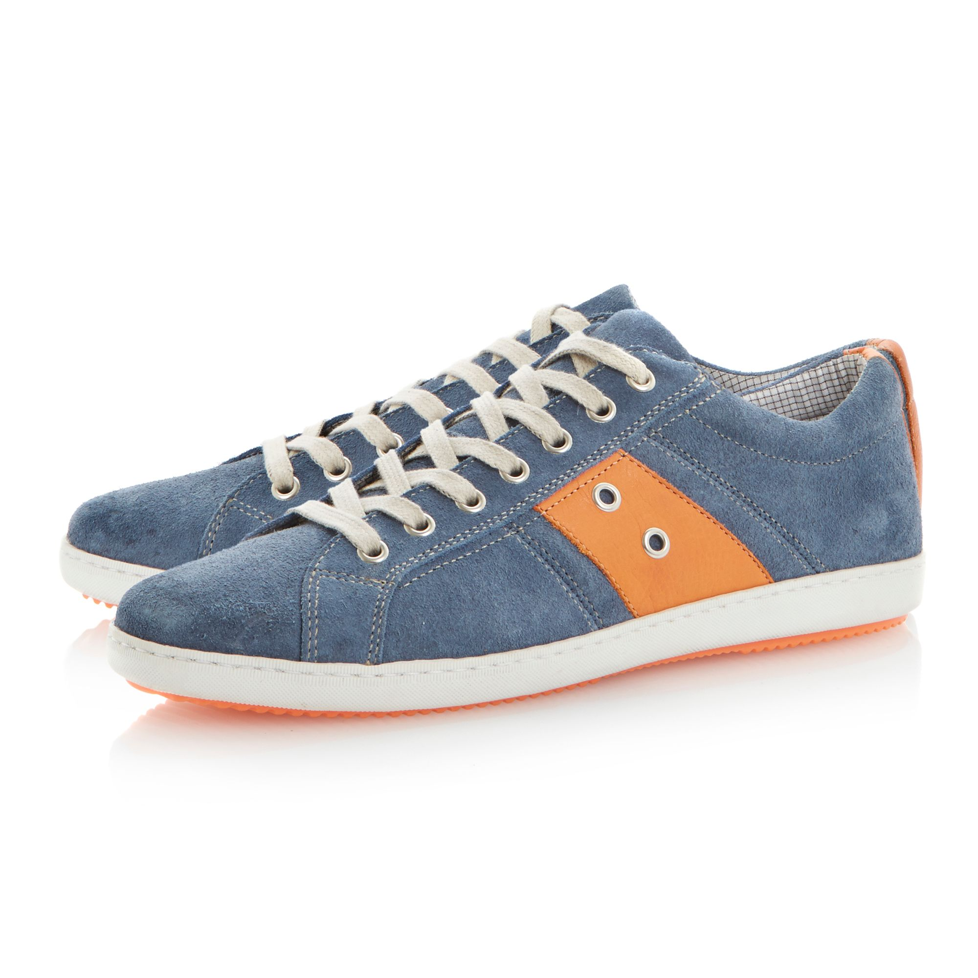 Topple lace up colour pop side stripe sneakers