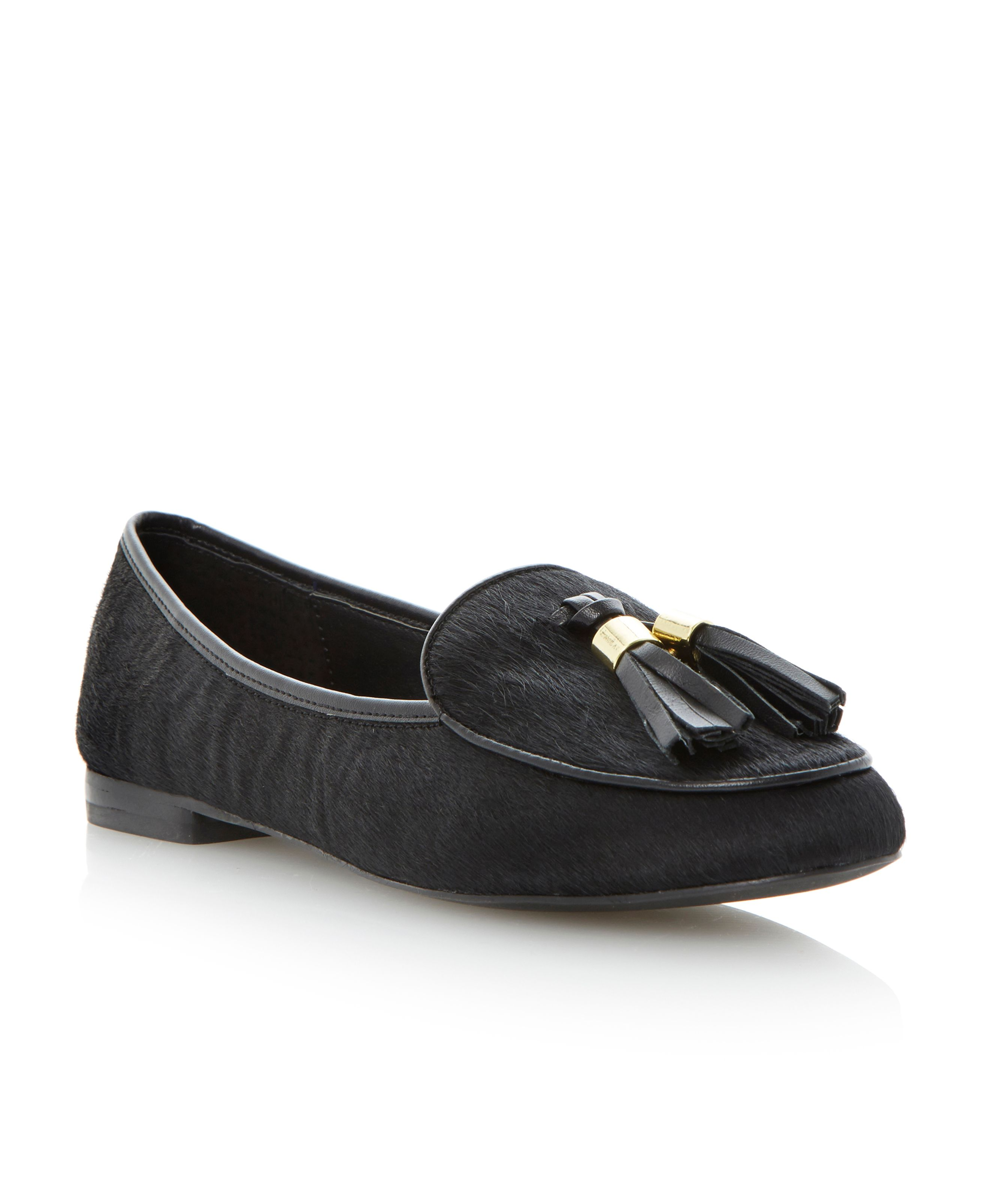 Lunni pony almond toe loafer shoes