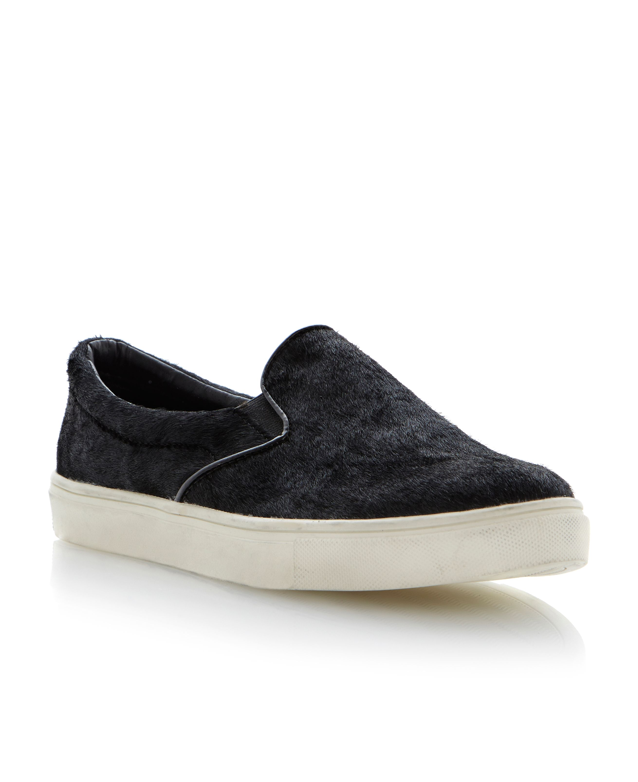 Ecentric almond toe slip on sneakers