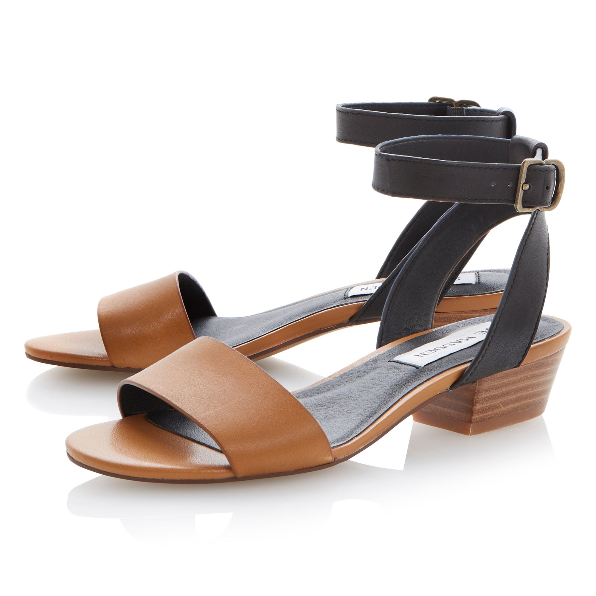 Terrance leather block heel sandals