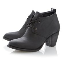 Judithh leather block lace up court shoes