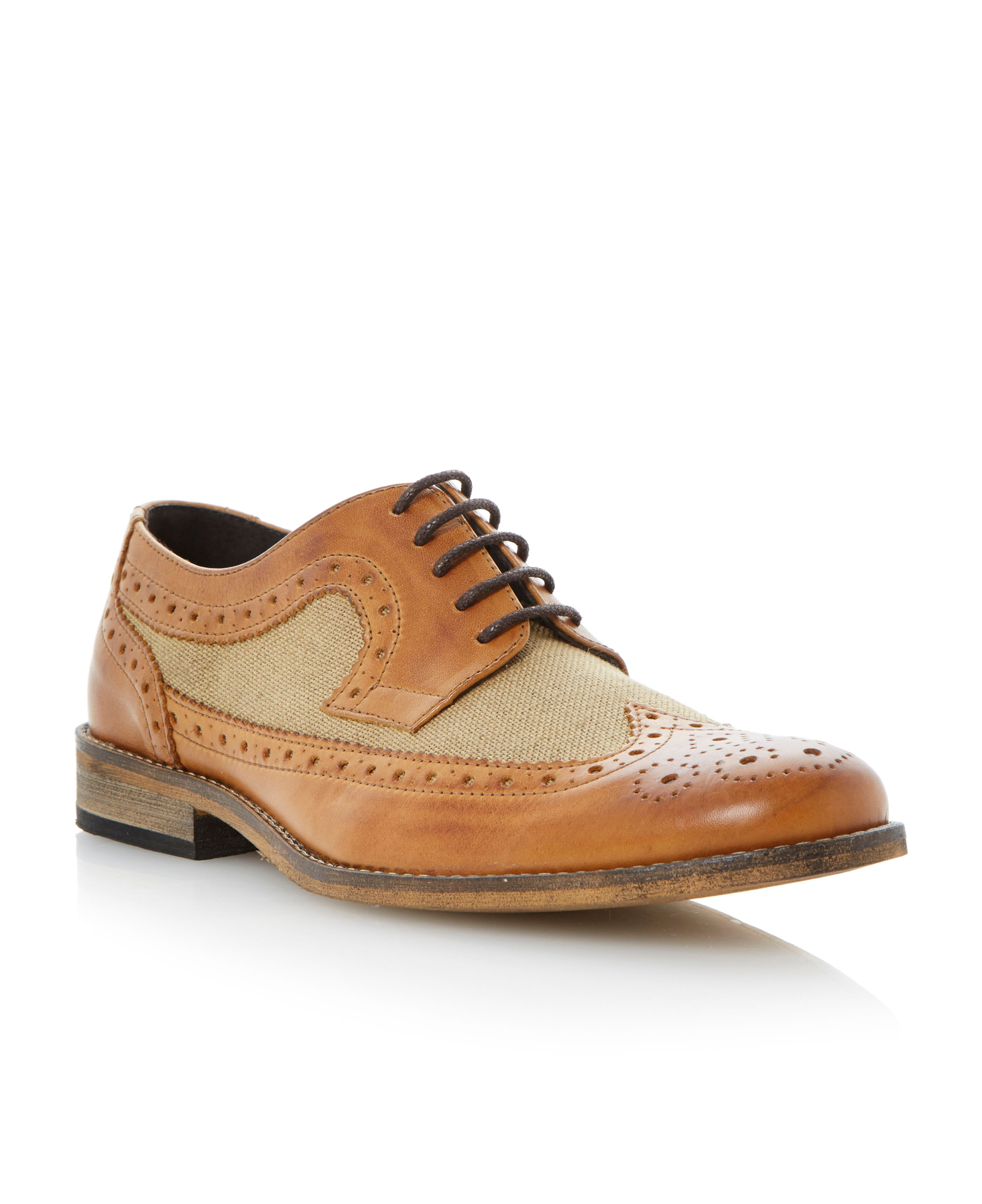Bart lace up wingtip brogues