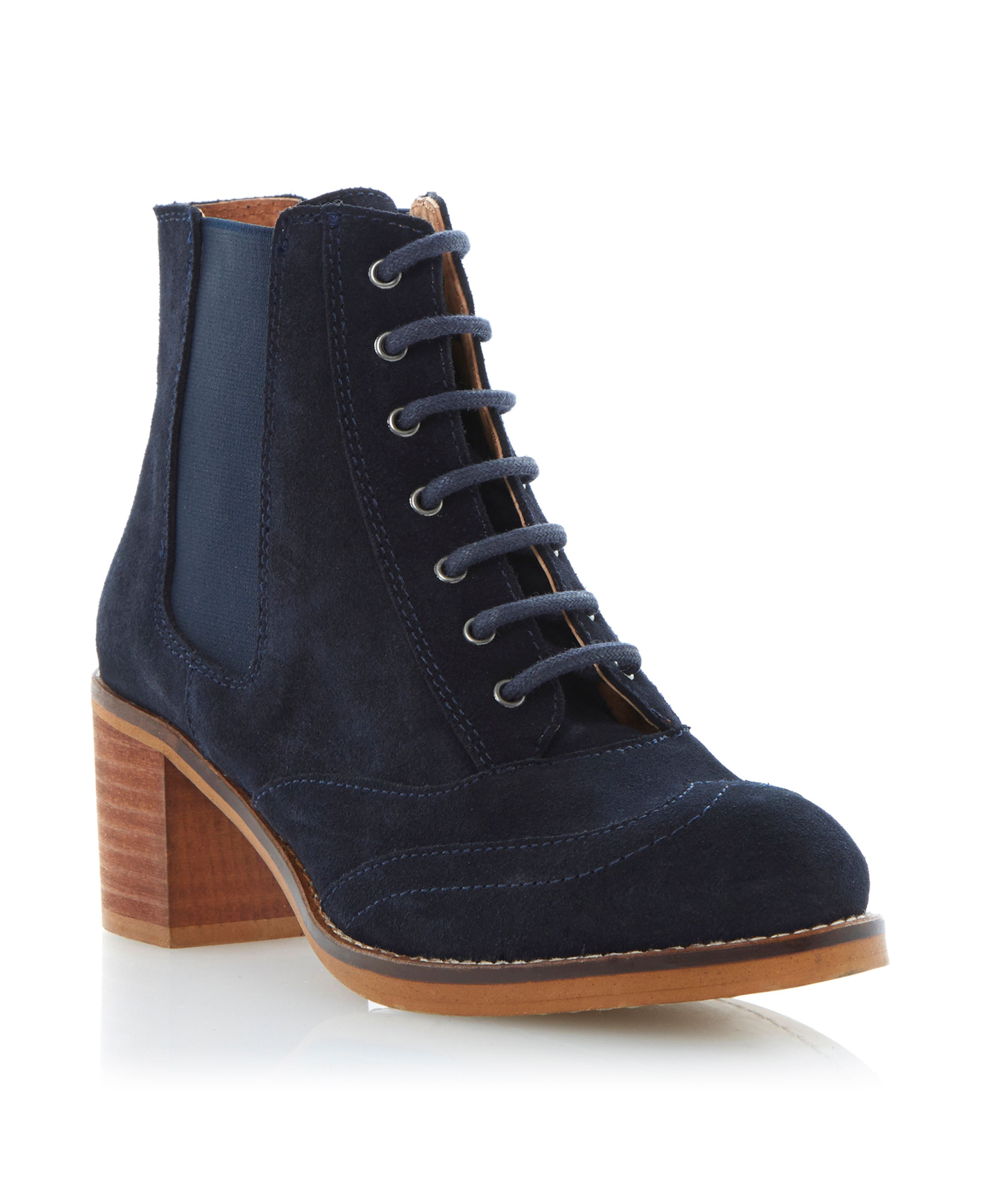 Pontins heeled lace up ankle boots