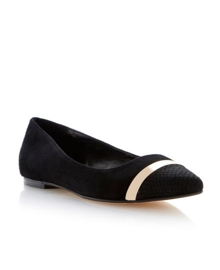 Dune Ameretto pointed toe flat shoes