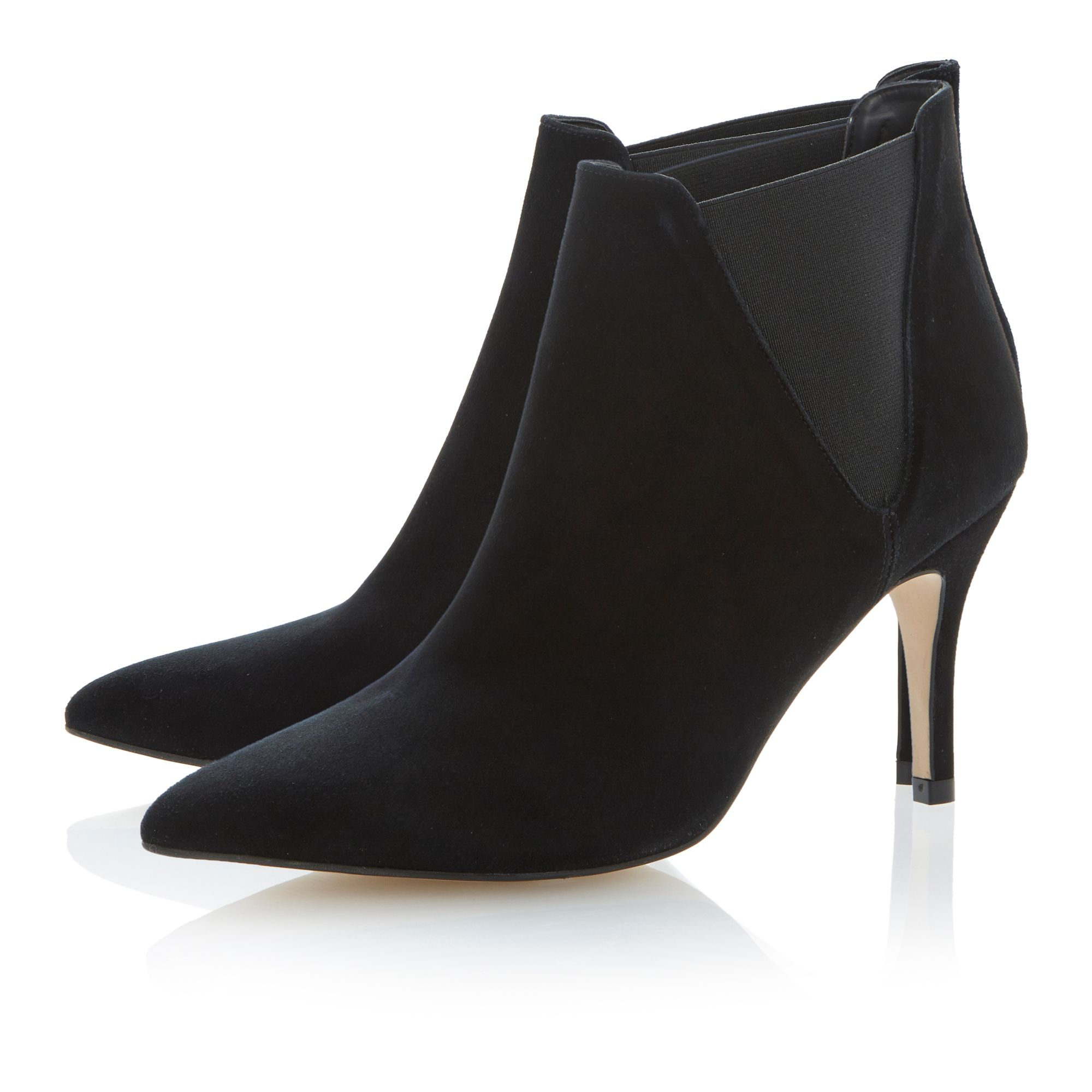 Nightfall point gusset ankle boots