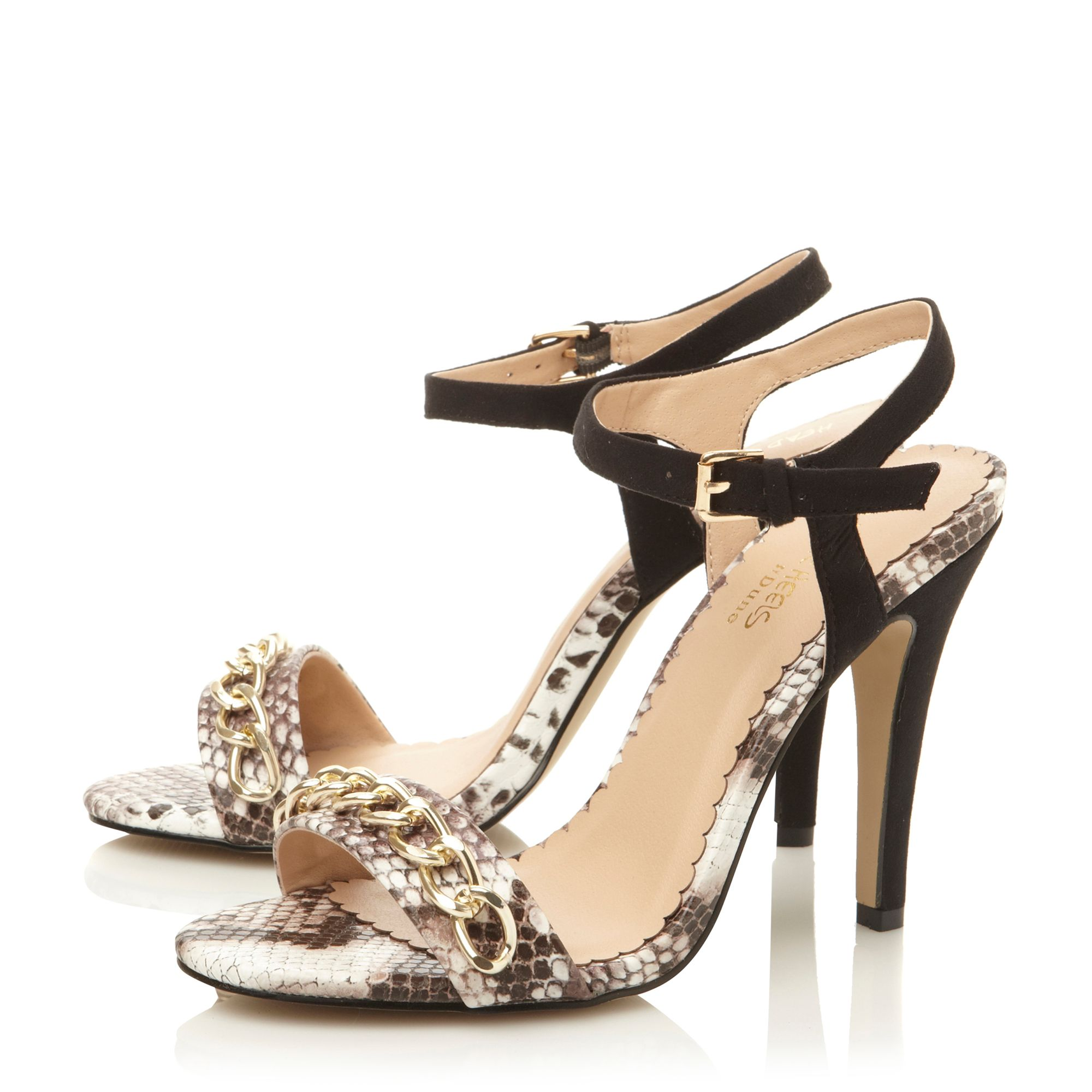 Hailee chain detail stiletto sandals