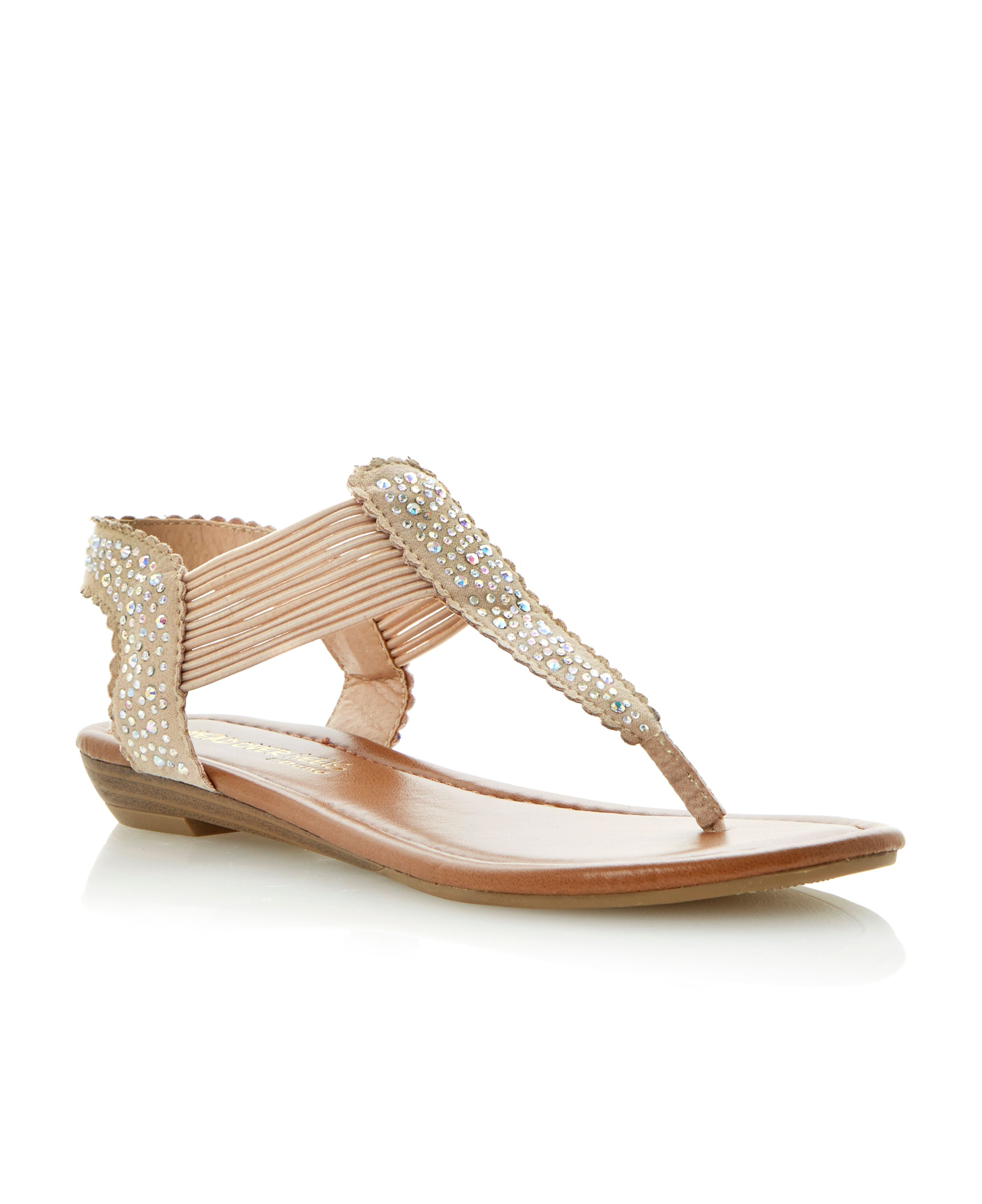 Knight heatseal gem wedge sandals