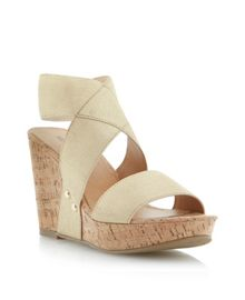Gibby wedge elasticated sandals