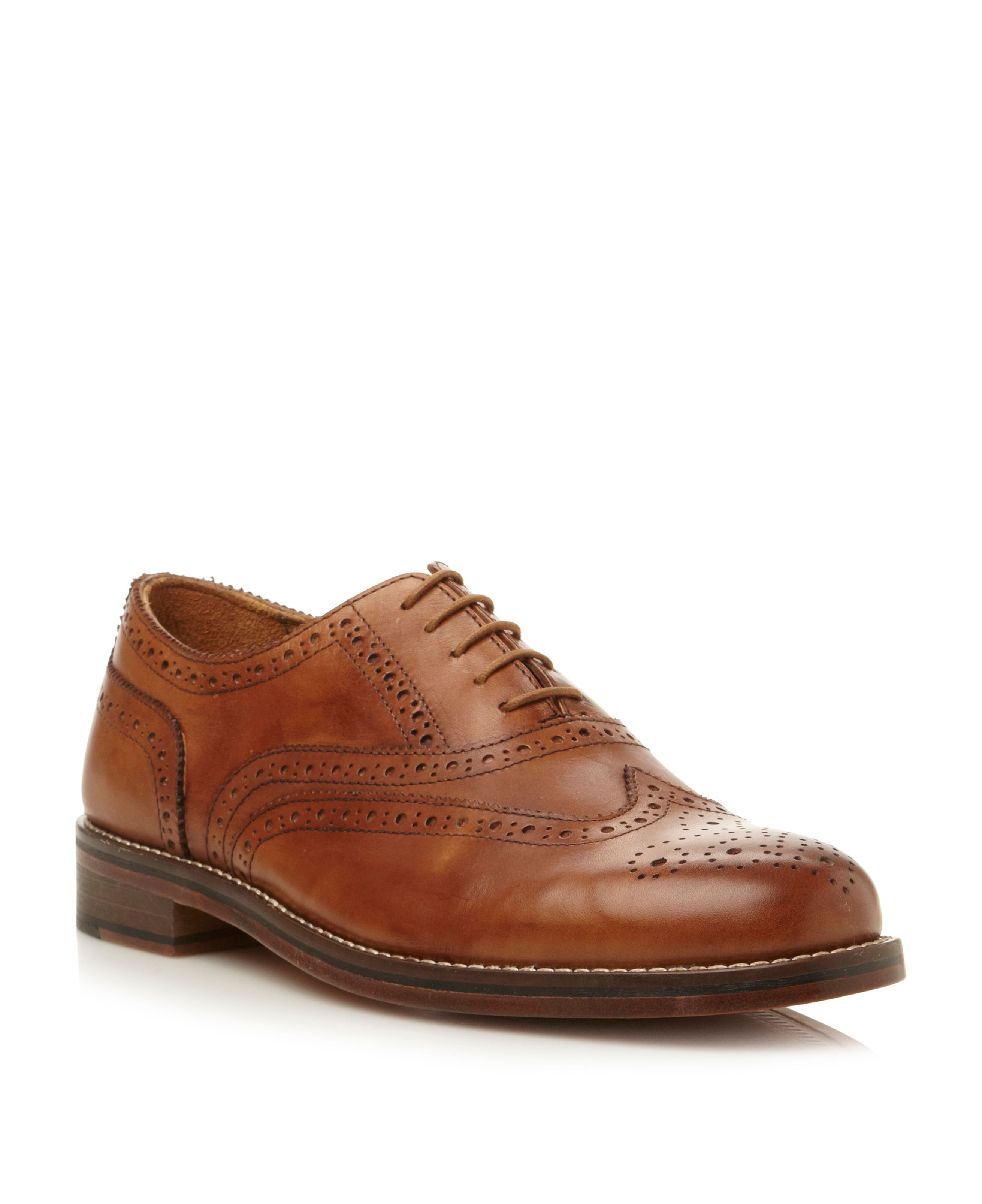Axton 1 lace up oxford heavy brogues