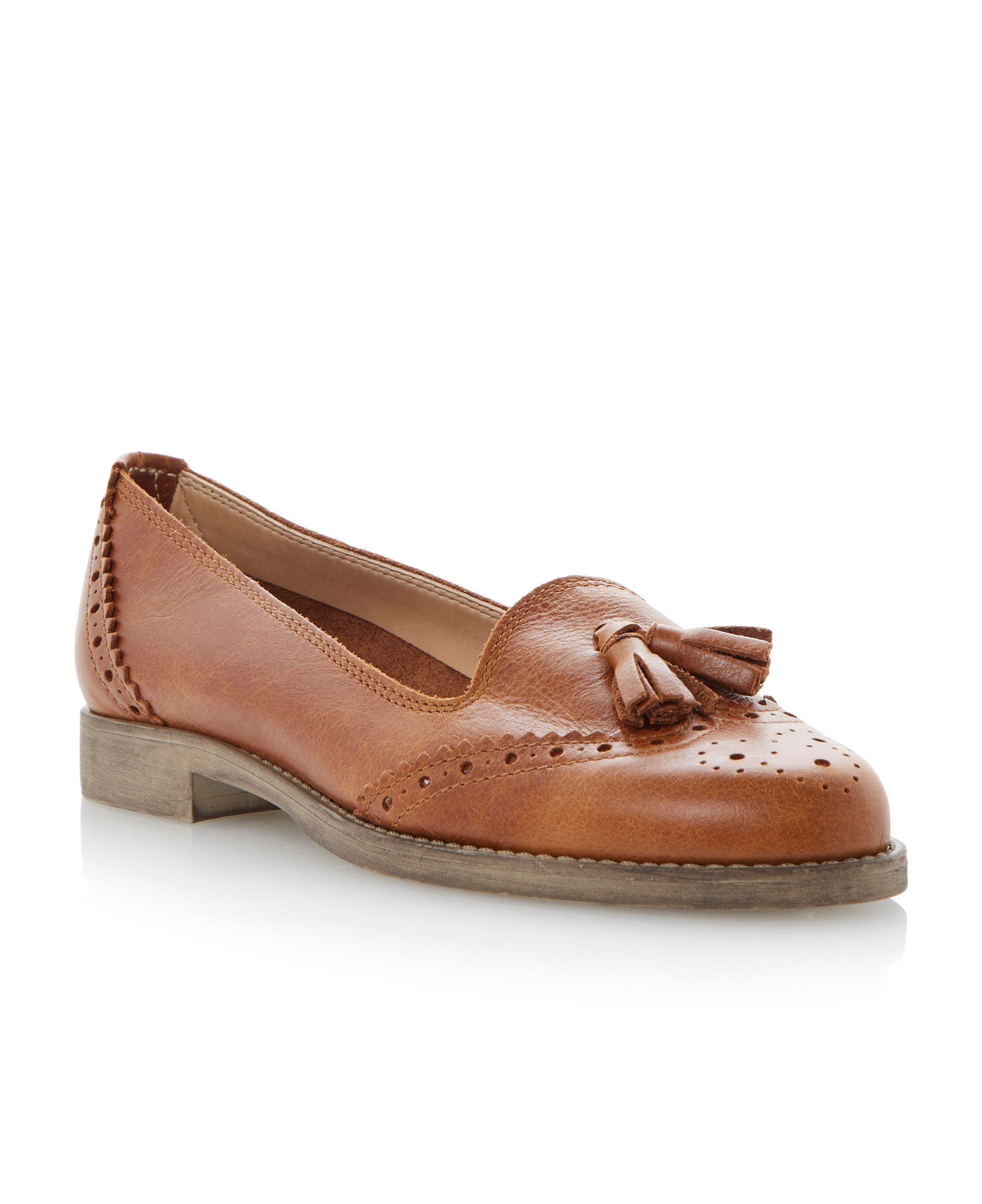 Lazarus mixed material tassel loafer shoes