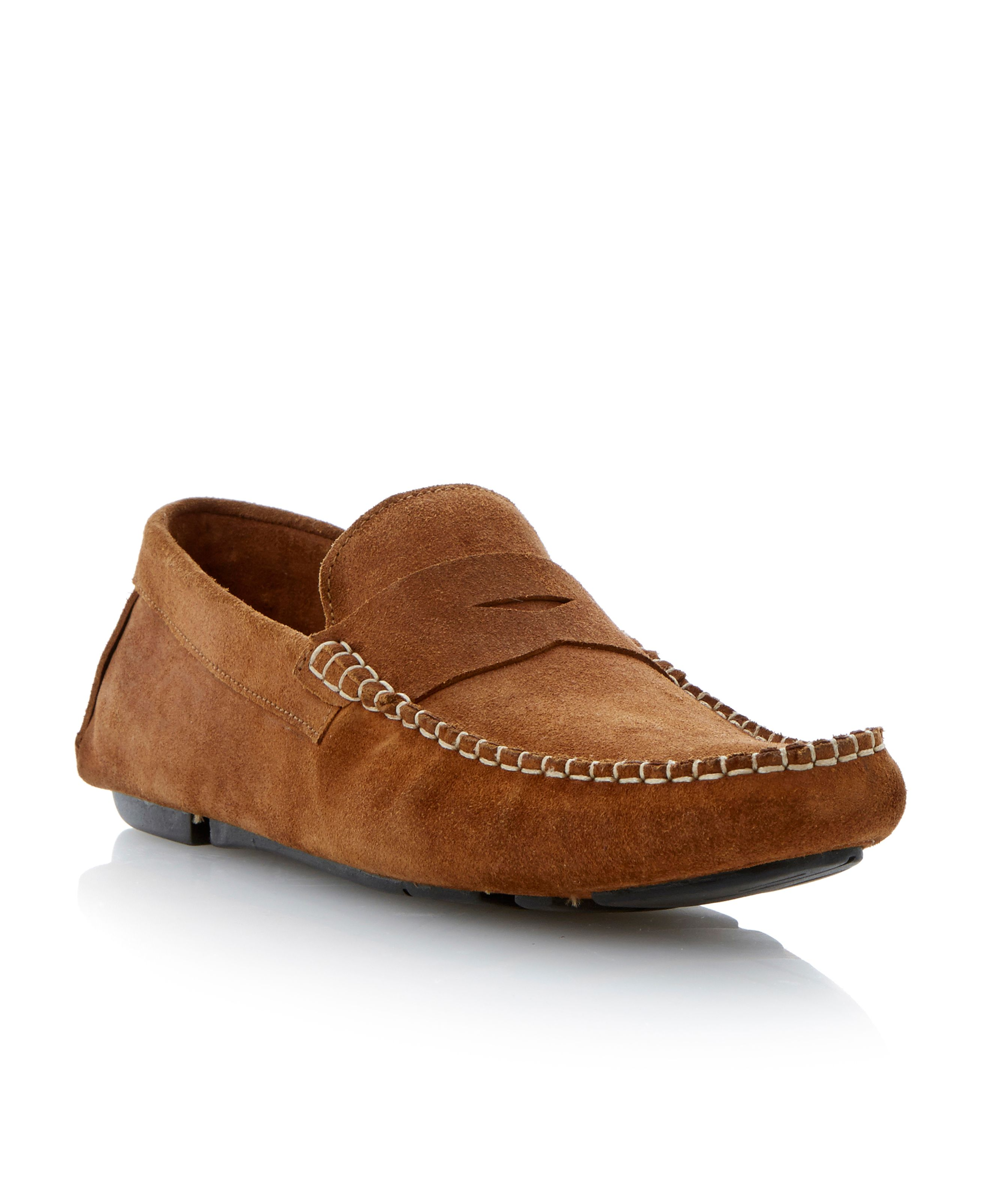 Benz 2 suede saddle driver shoes