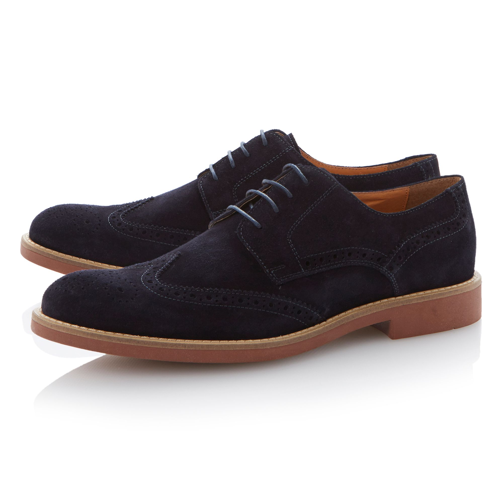 Basel lace up suede brogues