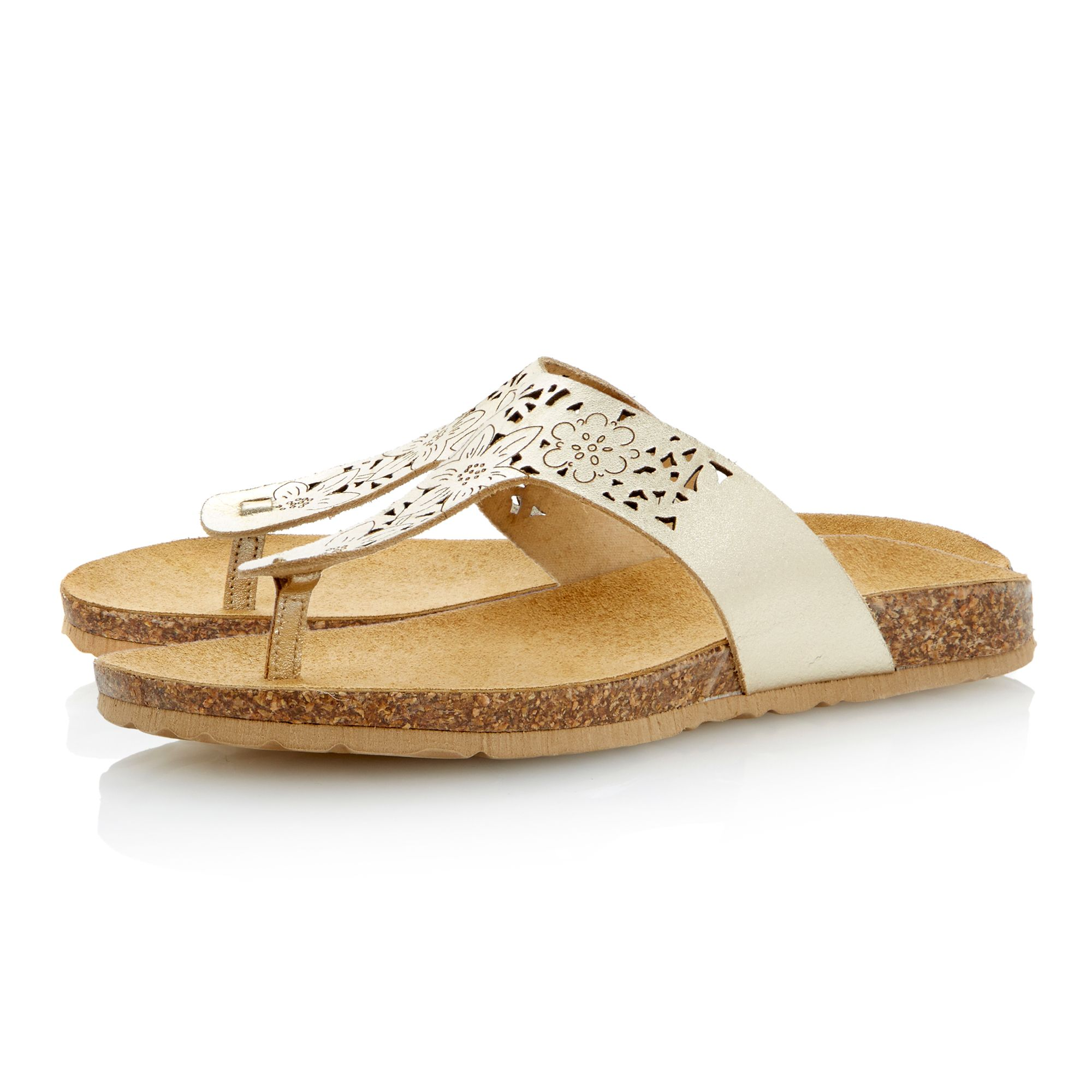 Jexi leather toe post sandals