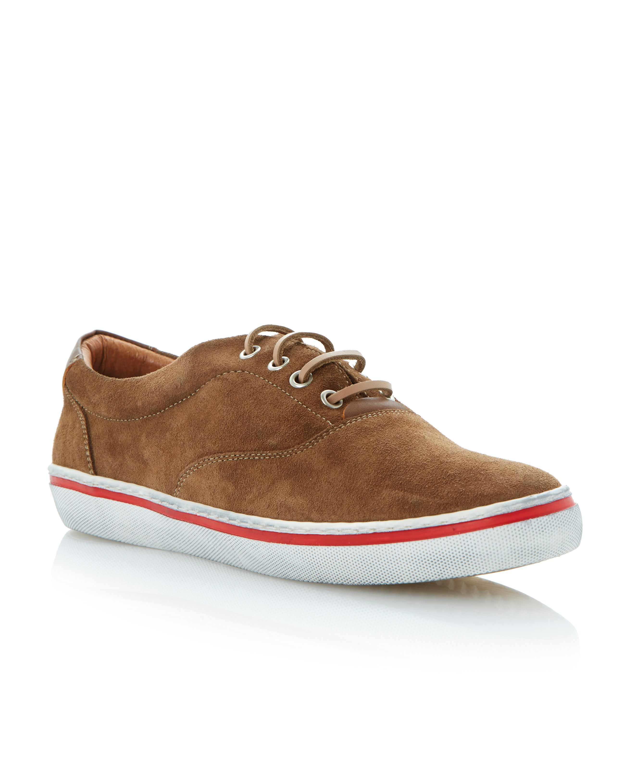 Truant lace up leather plimsolls