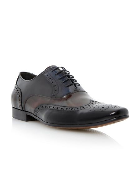 Dune Raymond lace up multi toned brogues