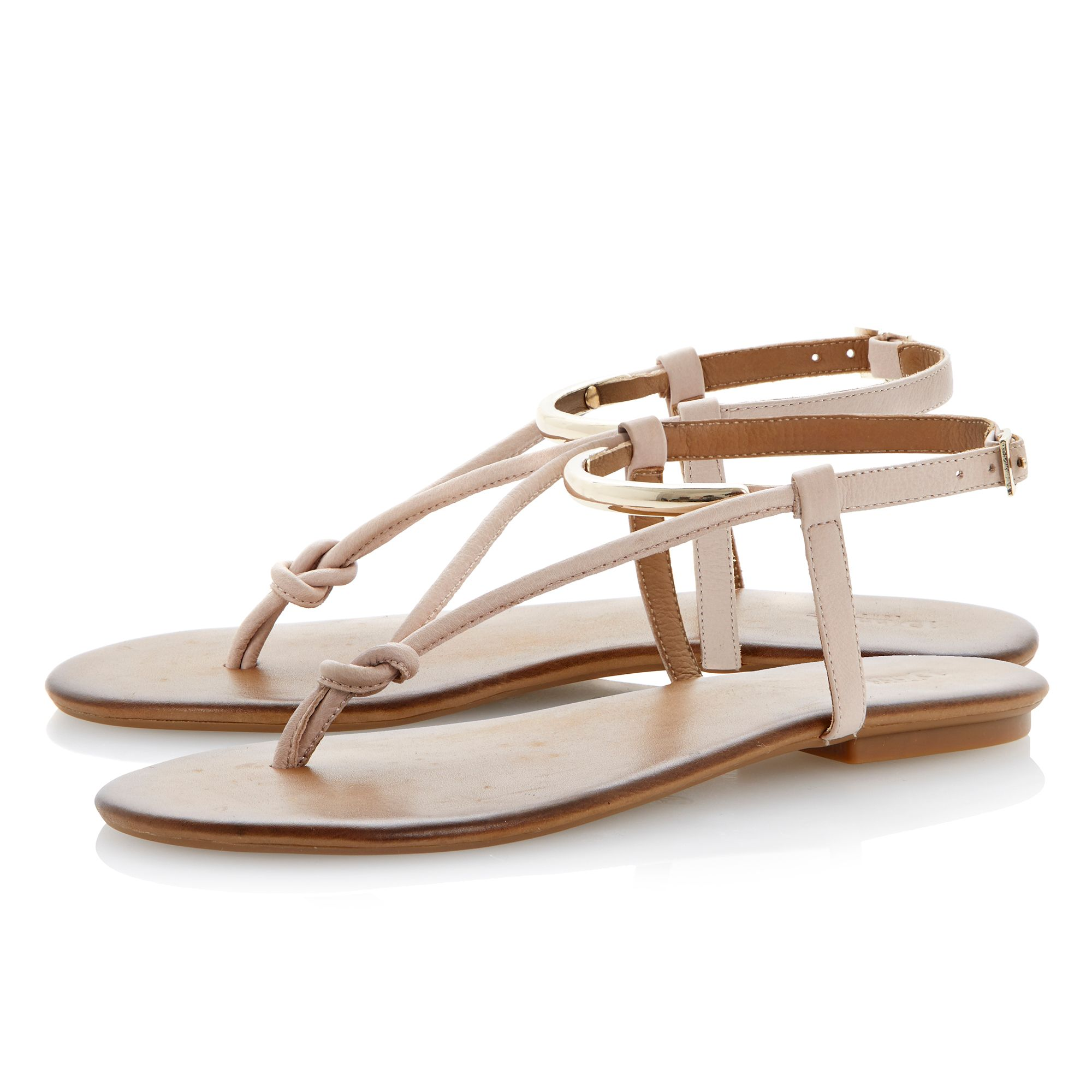 Jasyz leather flat buckle sandals