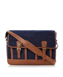 Papillion canvas satchel
