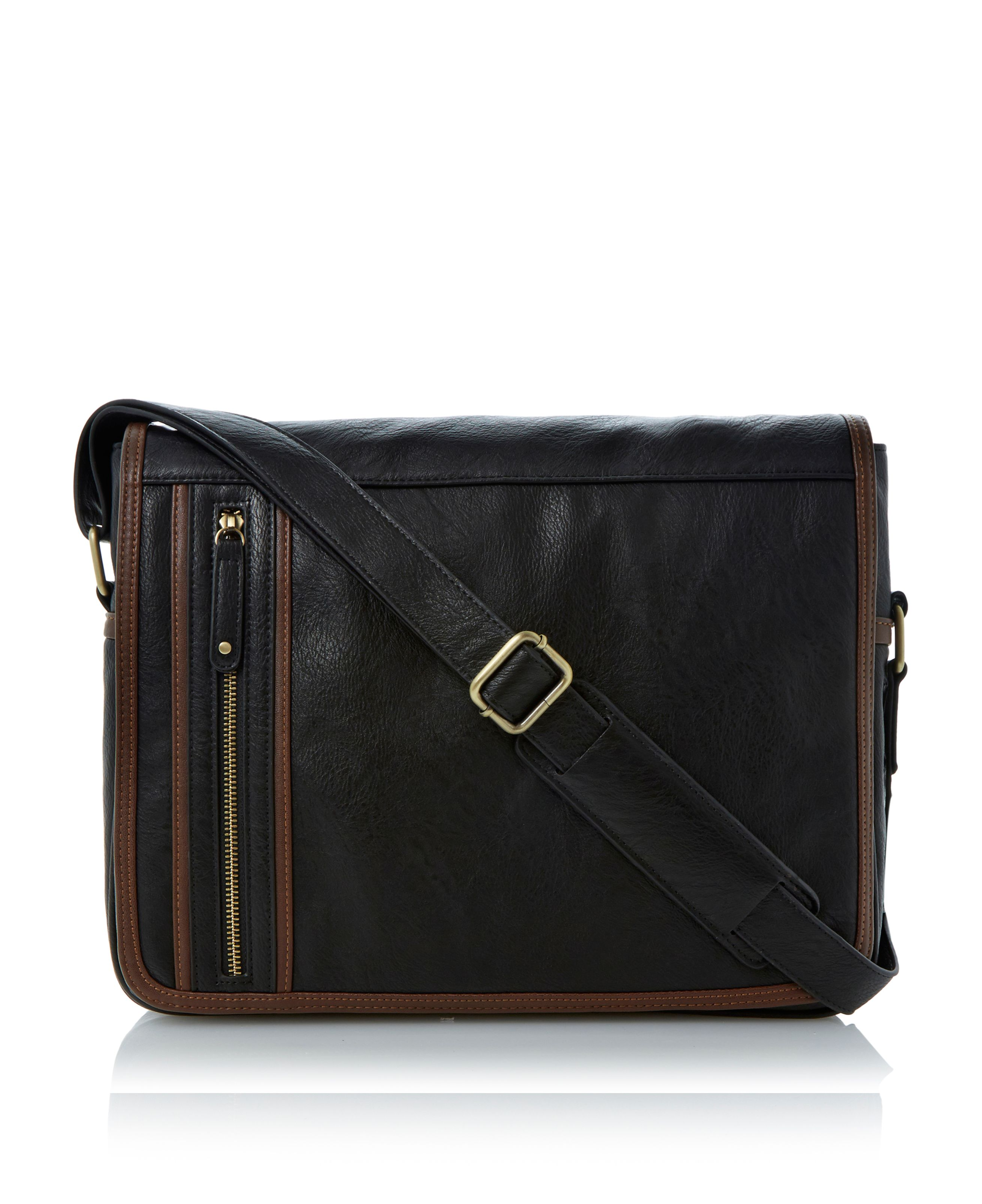 Portlands side zip messenger bag