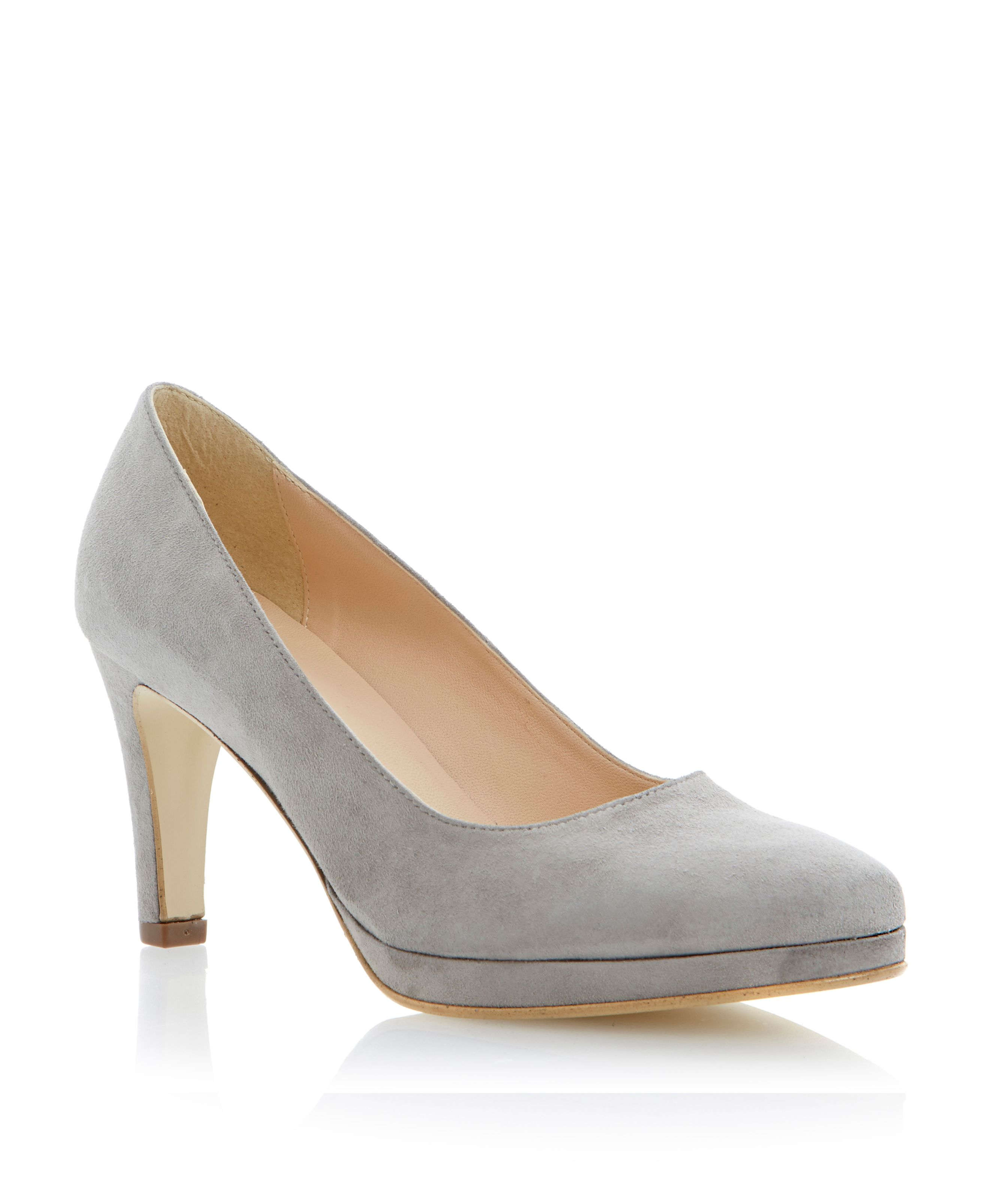 Adilko suede pointed toe stiletto court shoes