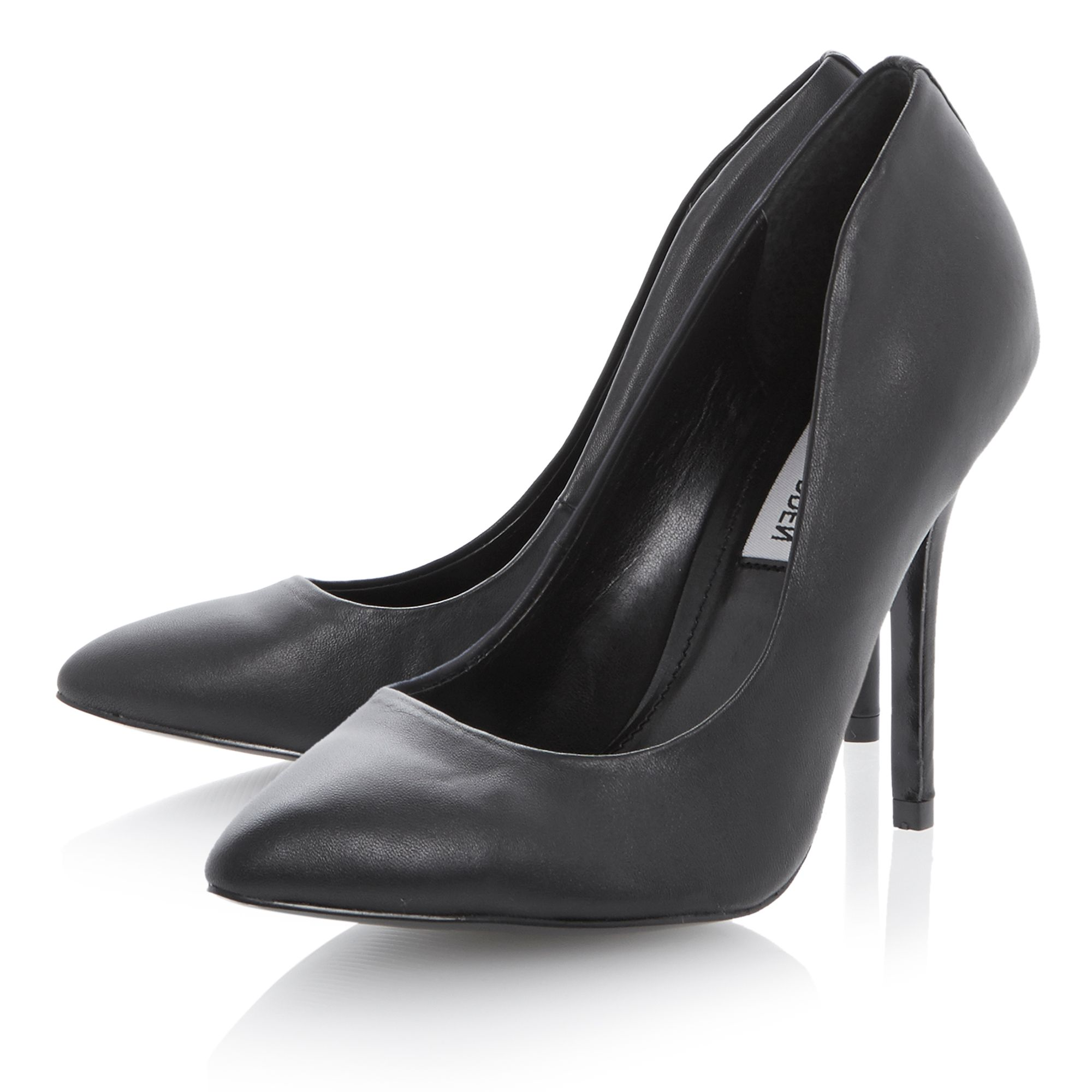 Galleryy leather pointed stiletto court shoes