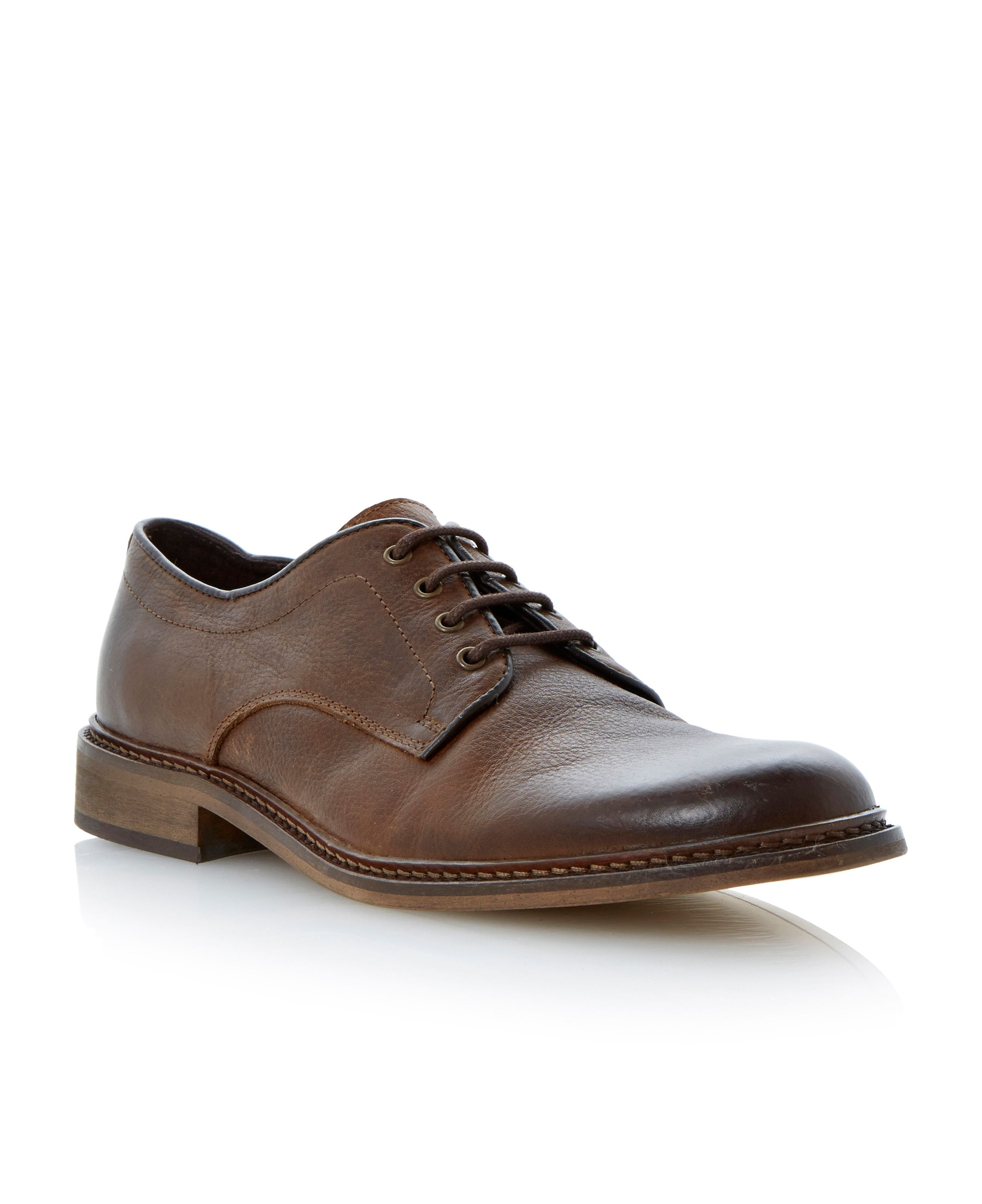 Brash lace up plain gibson shoes