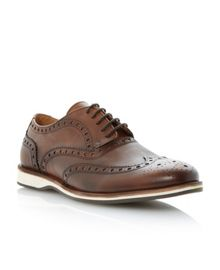 Brick layer lace up white wedge brogue gibsons