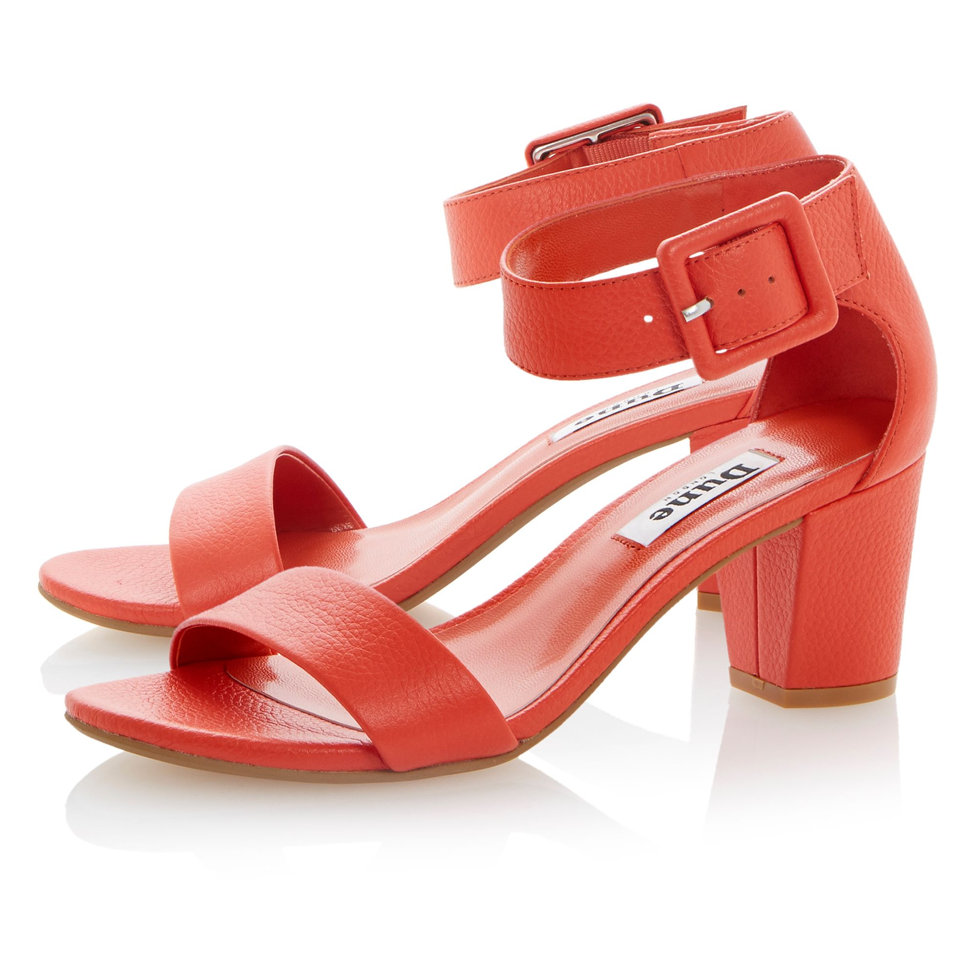 Fri leather buckle ankle strap sandals