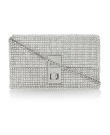 Eliza diamante foldover clutch bag