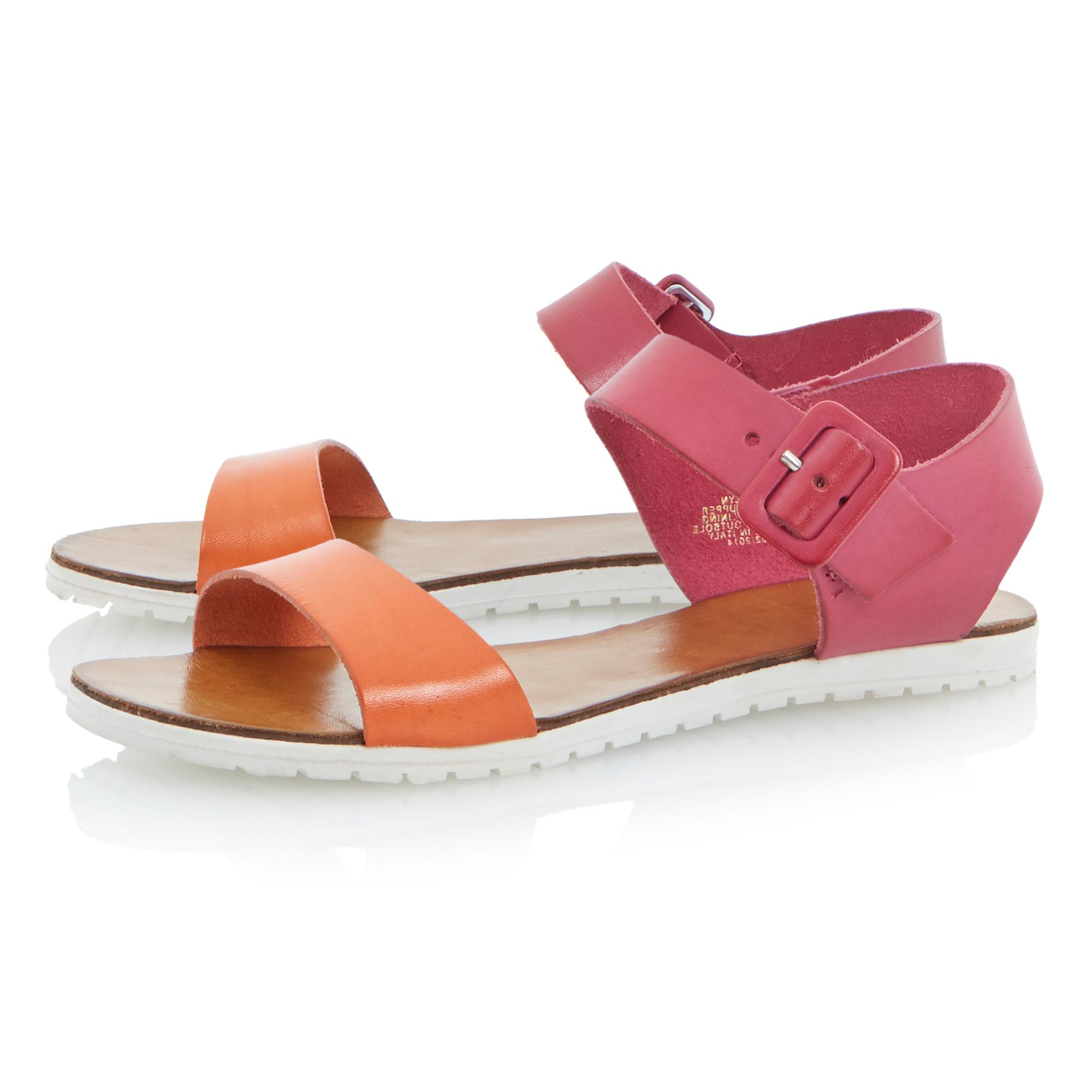 Jocelyn leather flat sandals