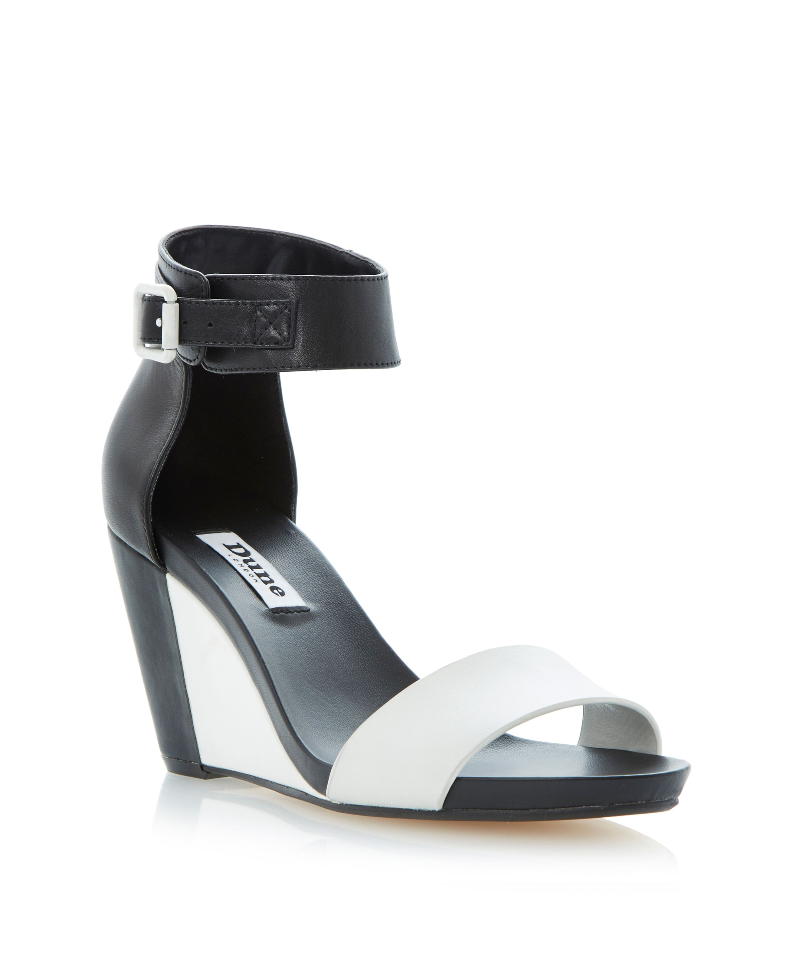 Grill leather wedge sandals
