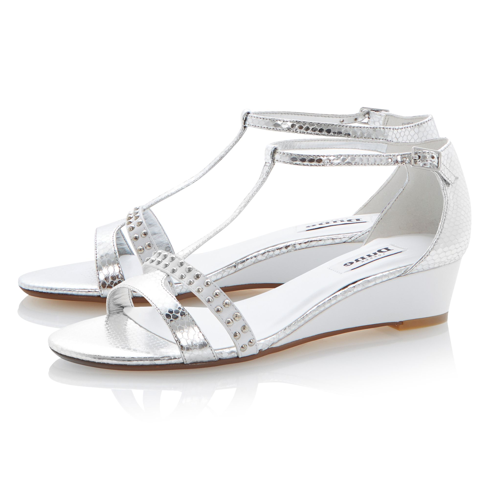 Guida leather wedge buckle sandals