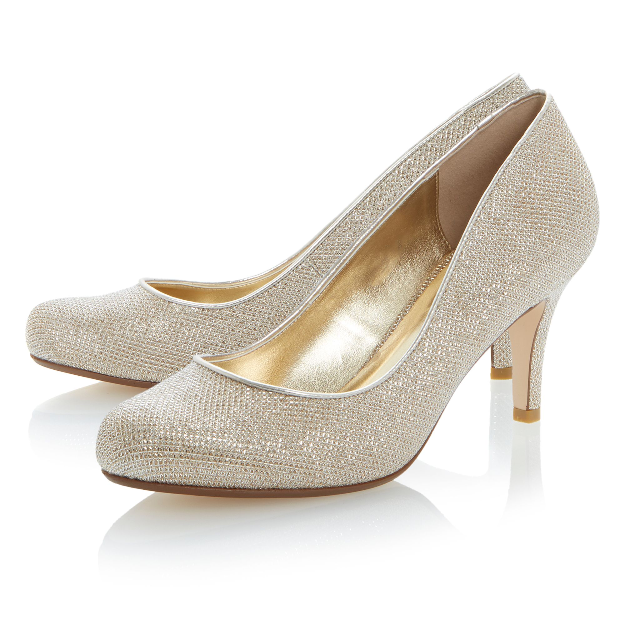 Amelia round toe stiletto court shoes
