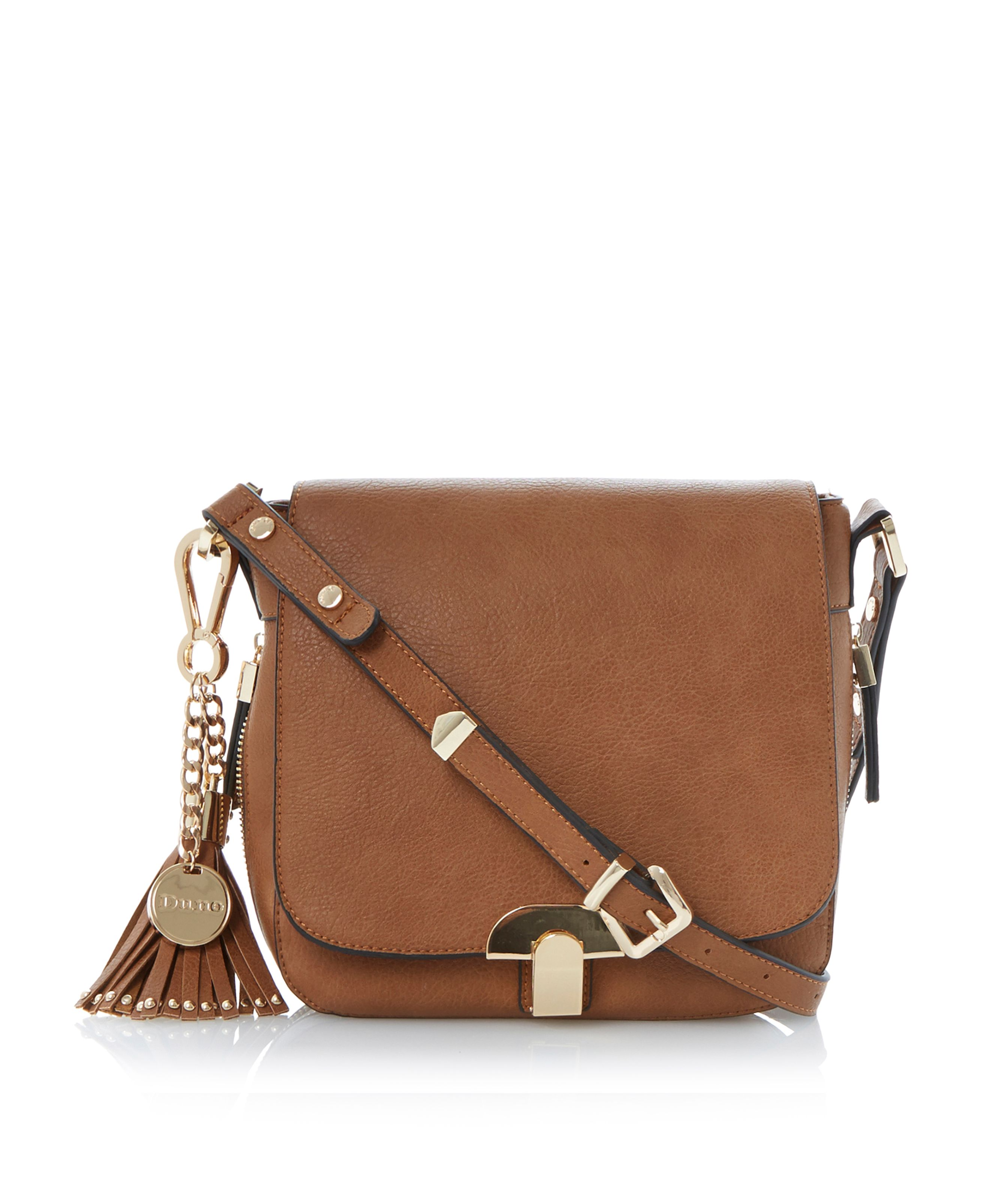 Dushroom tassel trim saddle bag