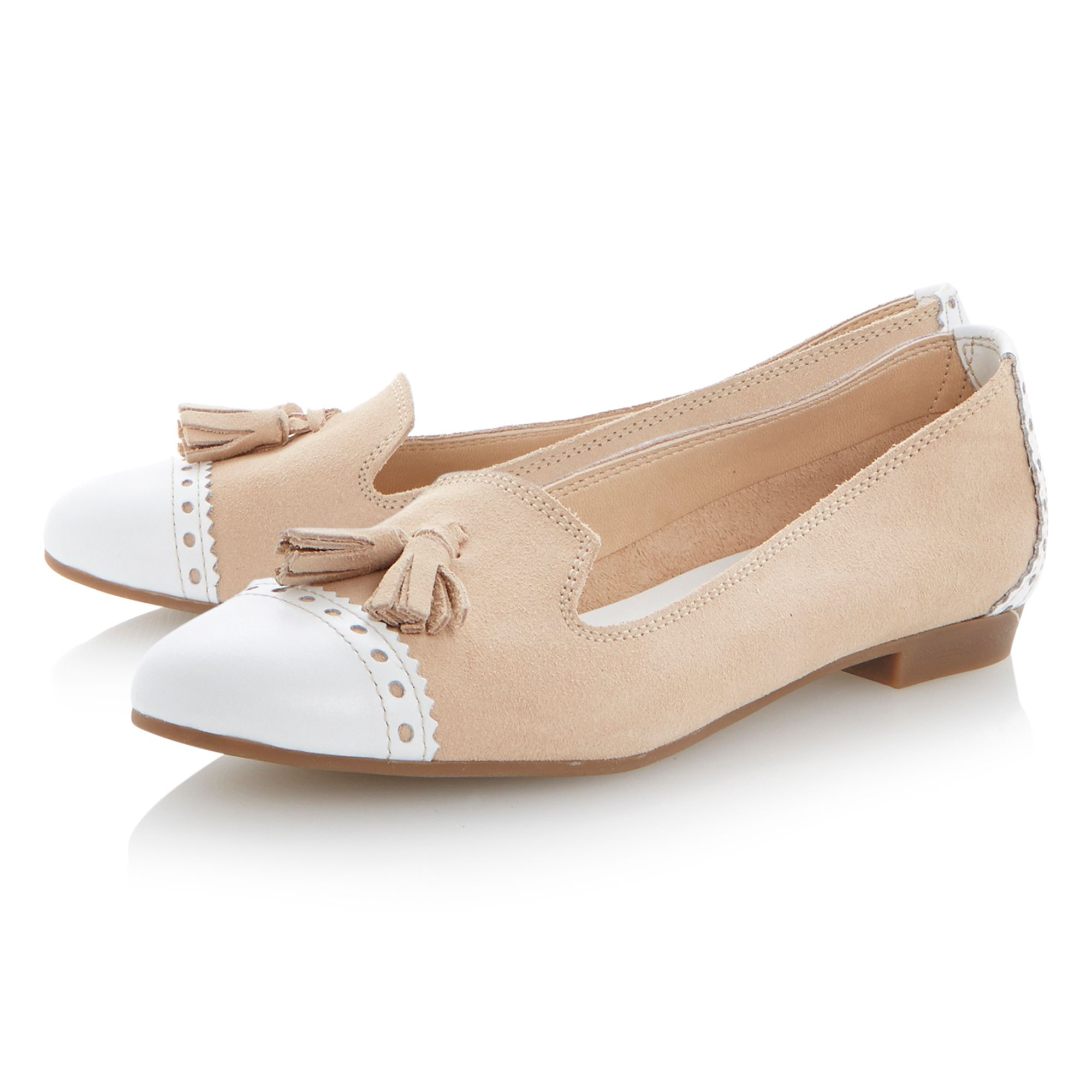 Lucille suede almond toe loafer shoes