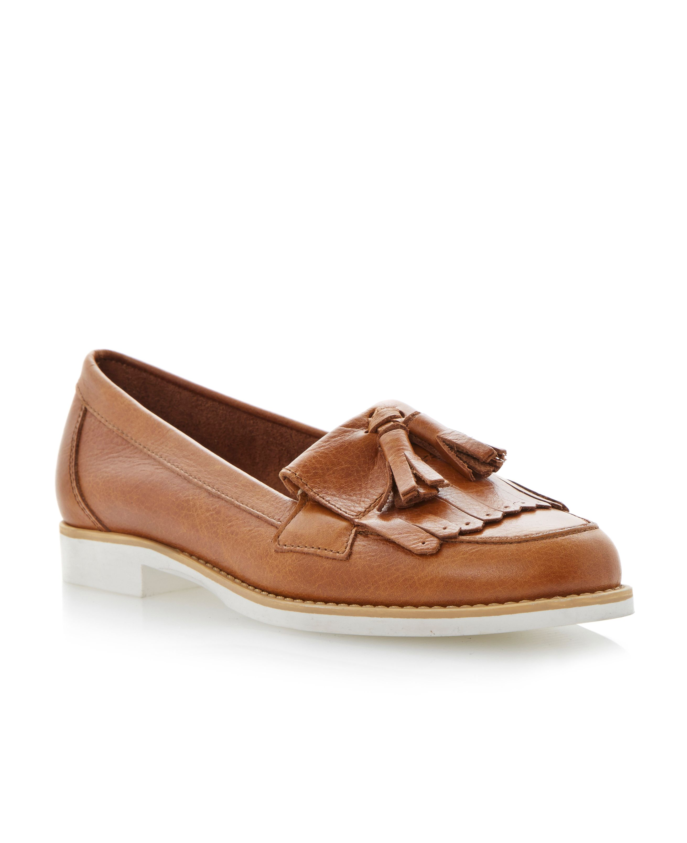 Lennon leather almond toe loafer shoes