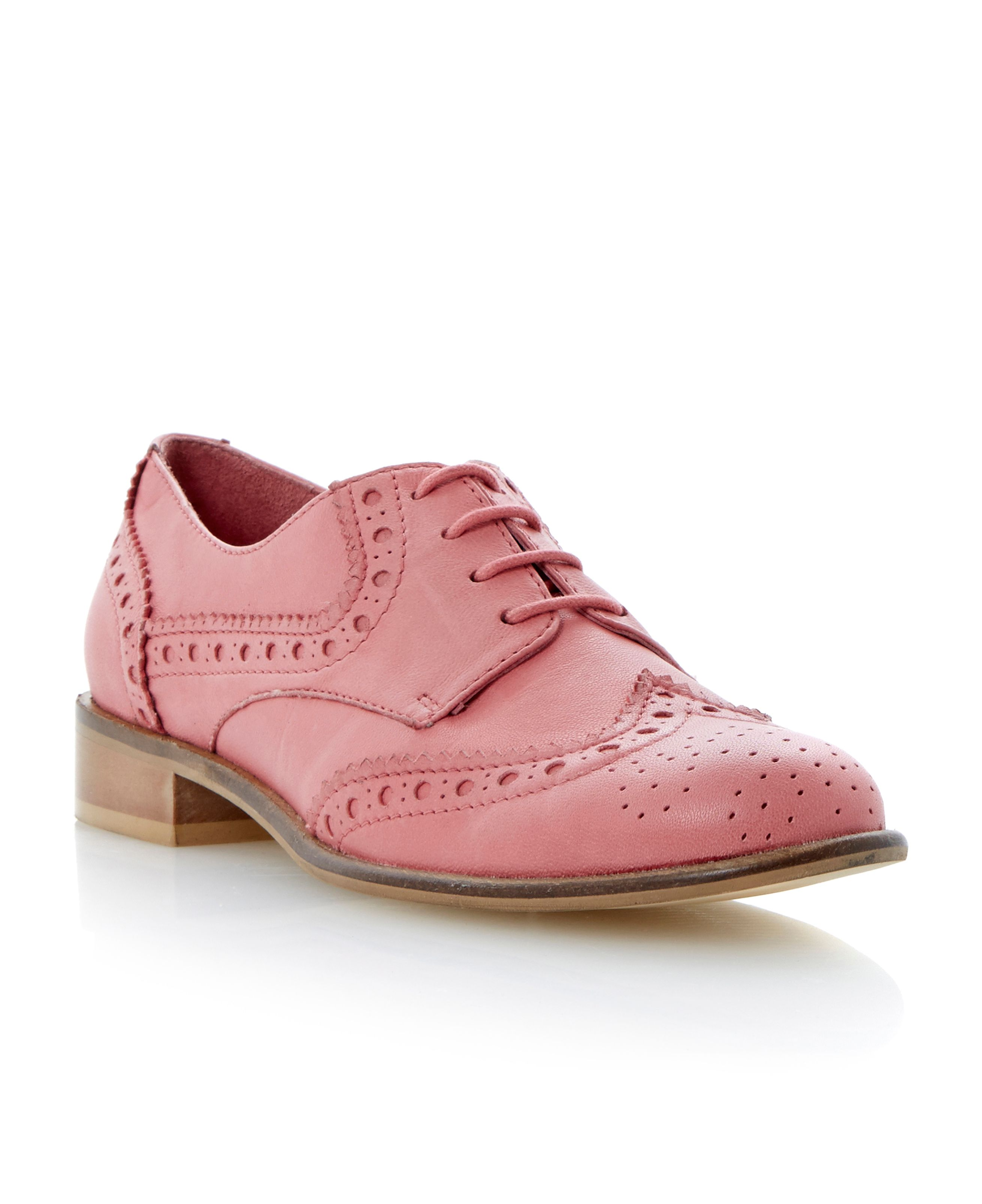 Langbury leather almond toe brogue shoes