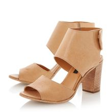 Linette leather stacked heel sandals