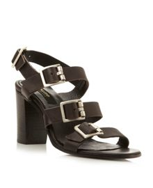 Liddia leather buckle sandals