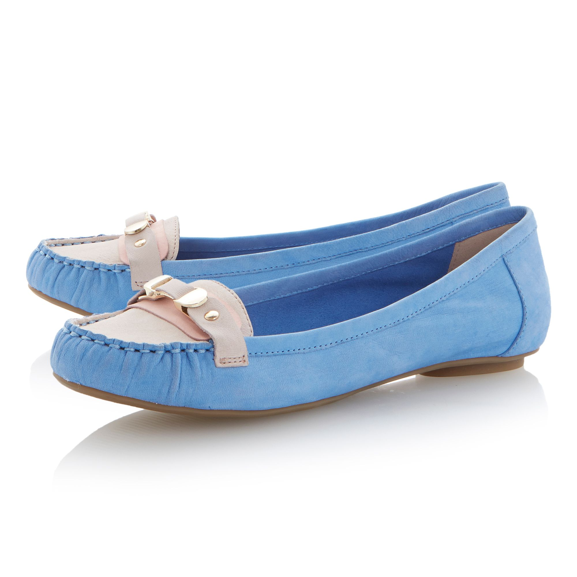 Lancelot leather round toe flat shoes