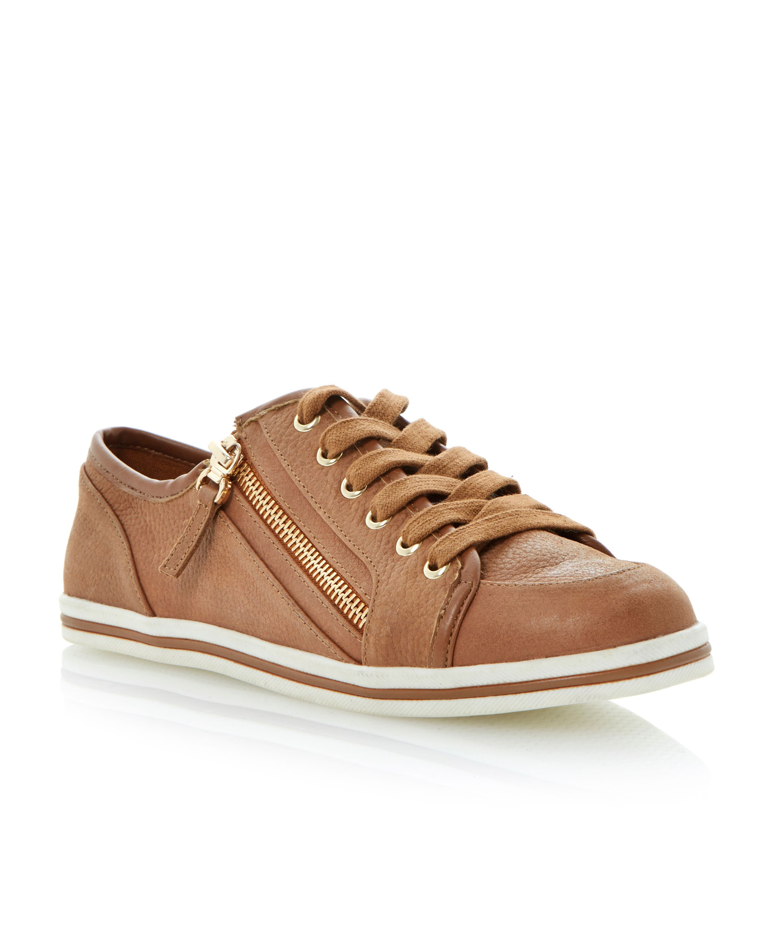 Landscaped lace up with side zip  trainers